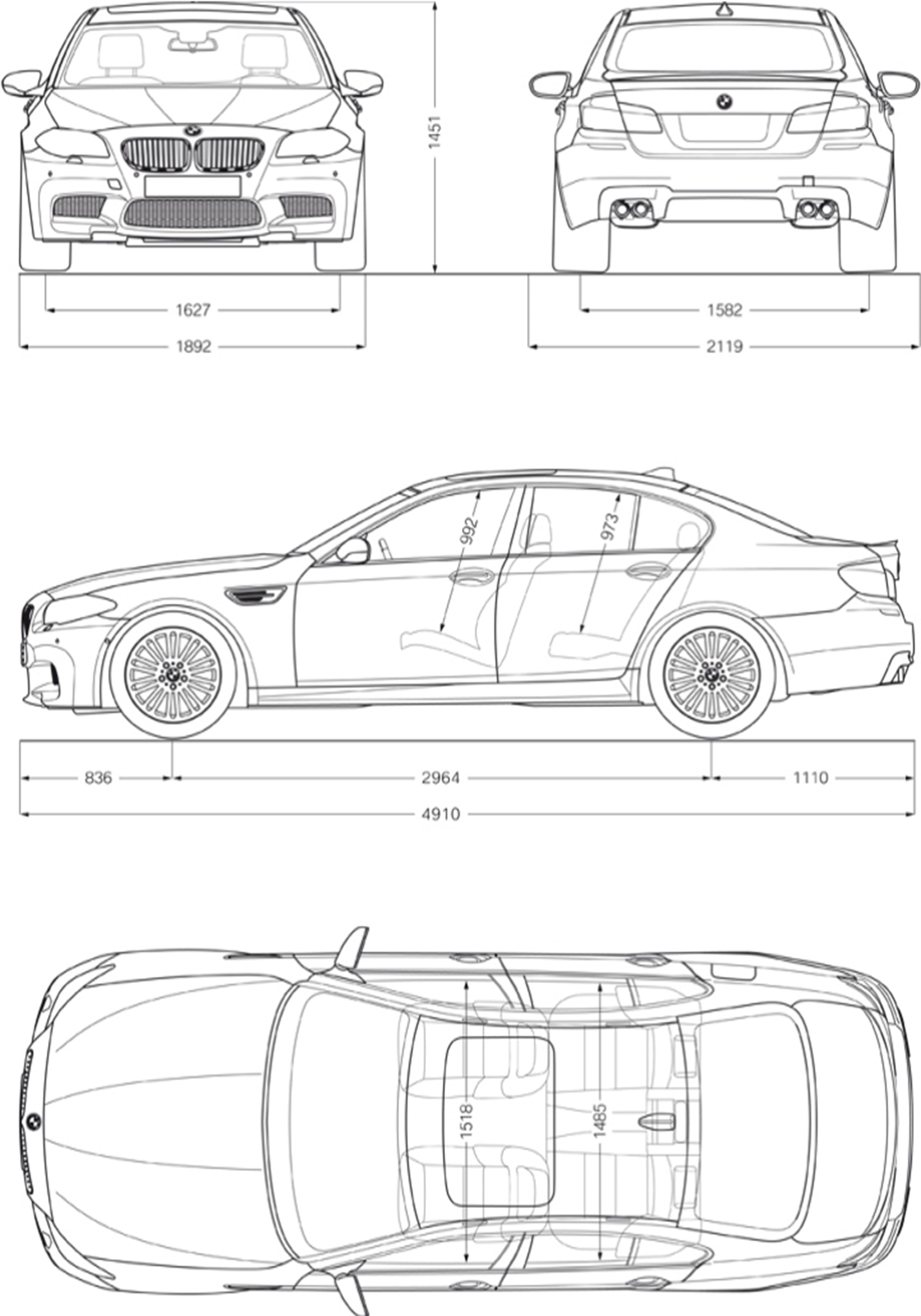 bmw m5 technical specifications bmw m5 exterior and interior dimensions bmw diagram