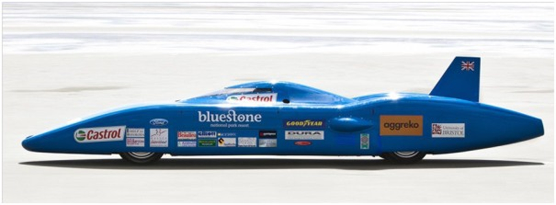 Bluebird electric land speed car
