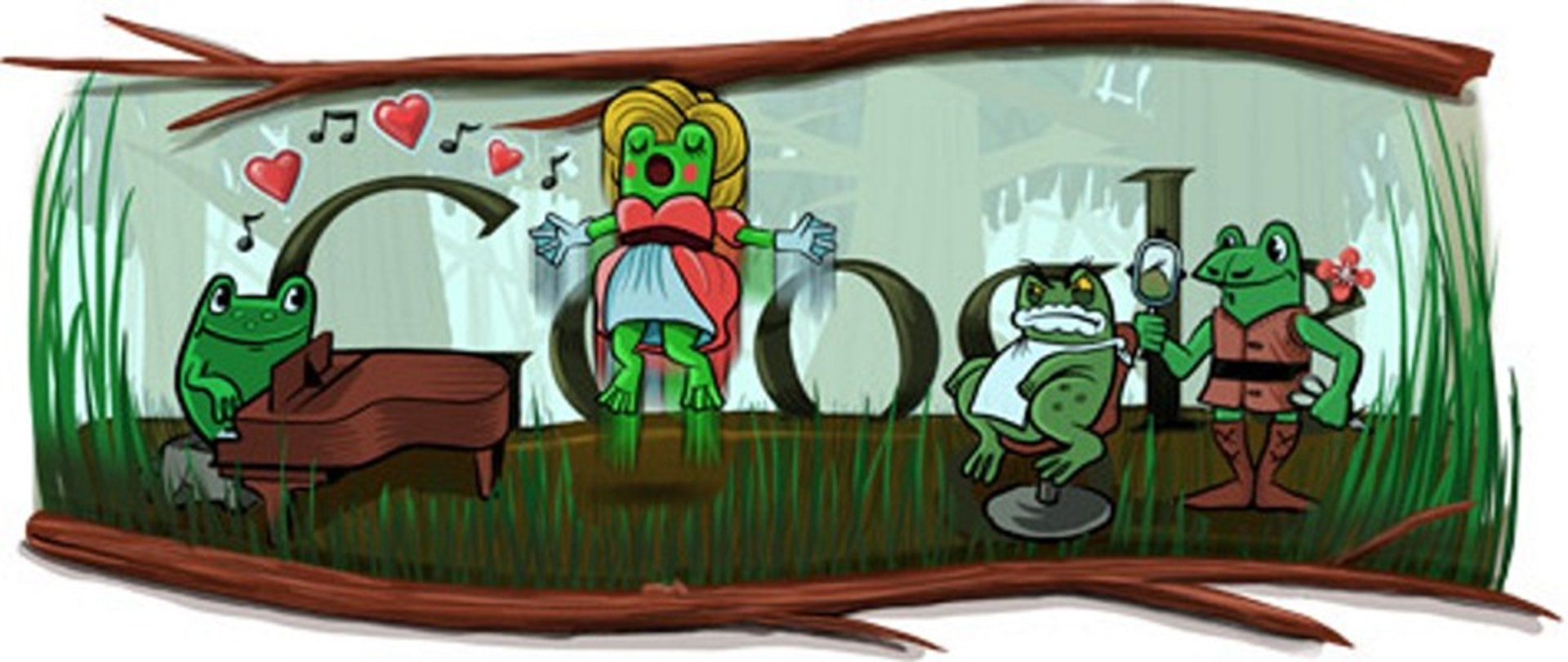 Frogs Google Doodle Leap Year 2012