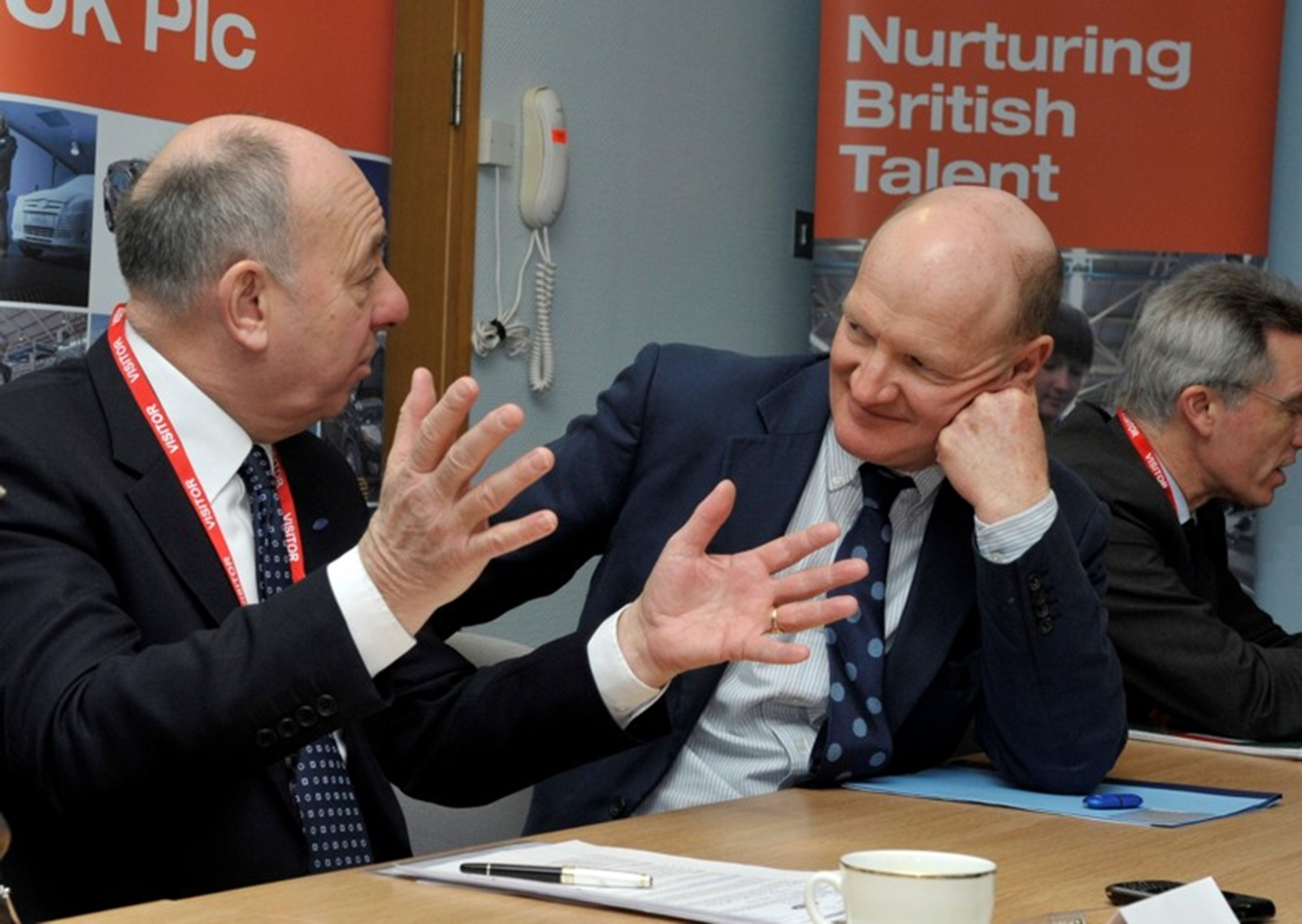 Joe Greenwell and Rt Hon minister David Willetts...