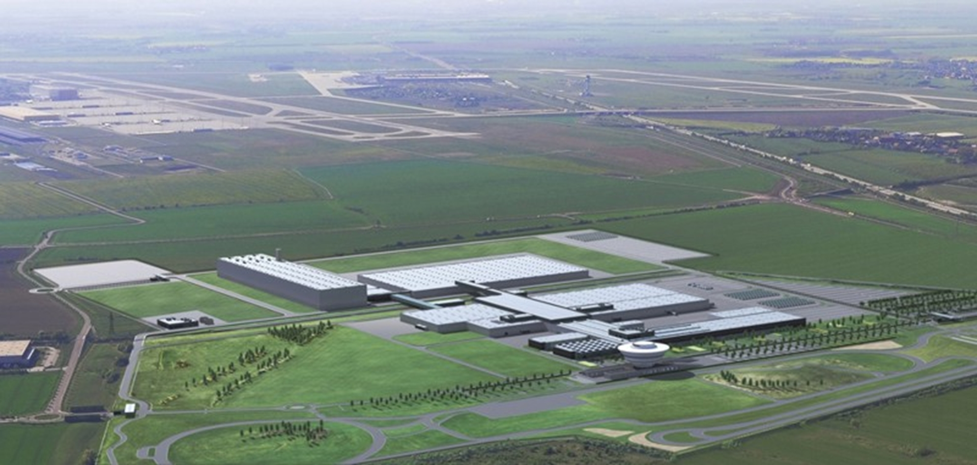 The planned extension to the Porsche Leipzig production site