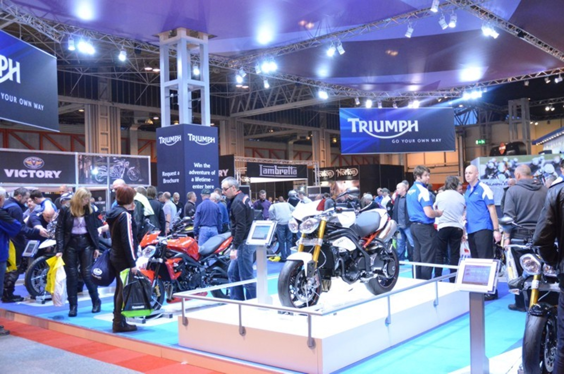The Triumph stand at Motorcycle Live
