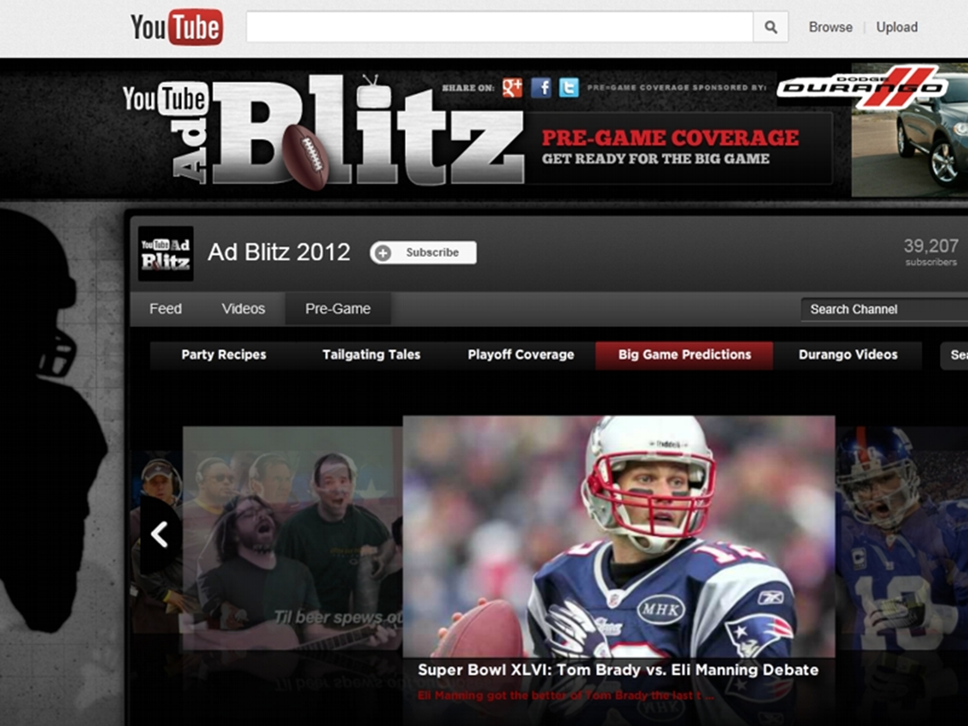 Super Bowl 2012 Youtube