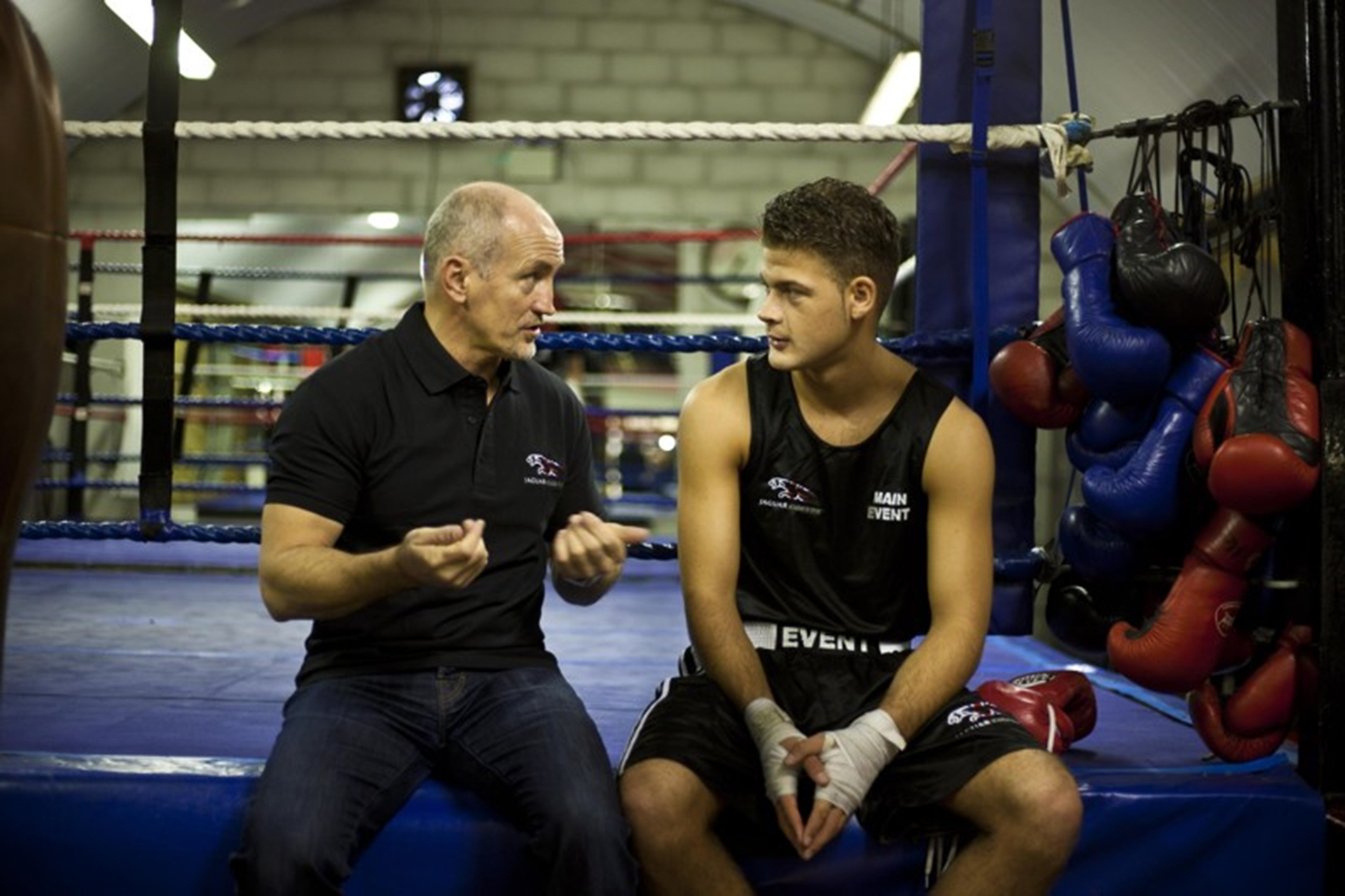 Barry McGuigan and Patrick McCann