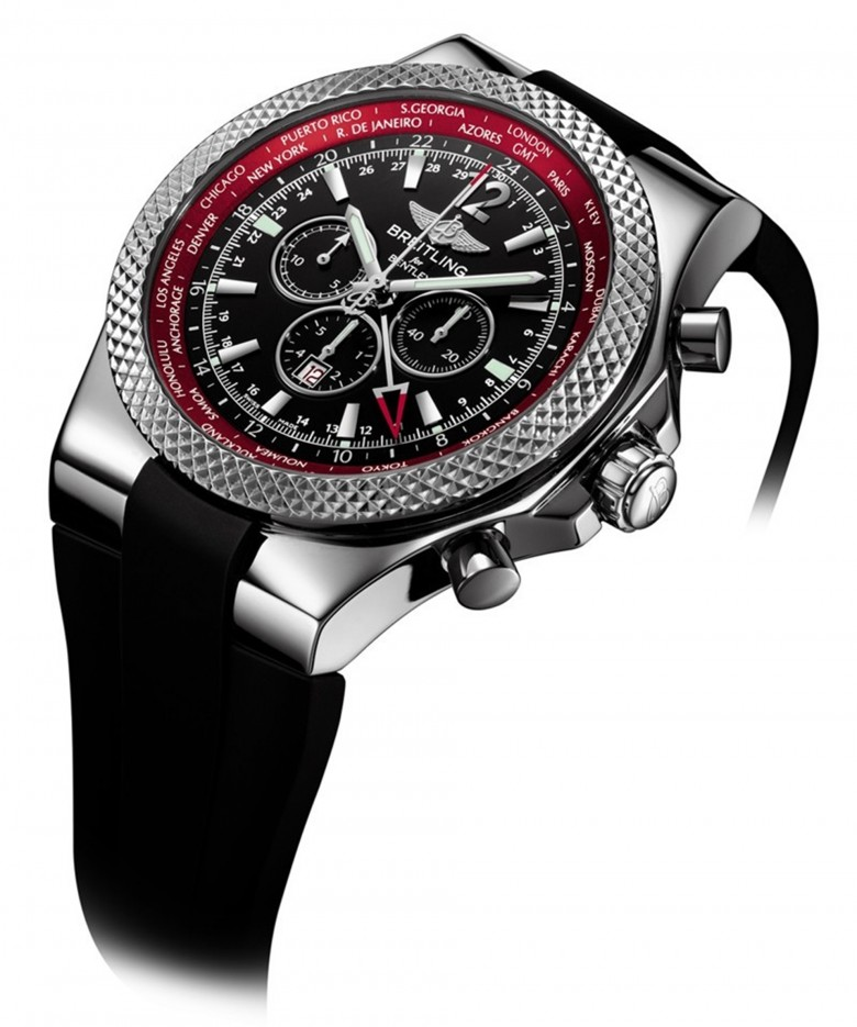 Breitling For Bentley Rubber Strap: Bentley Collection Inspired By The Continental V8 Models