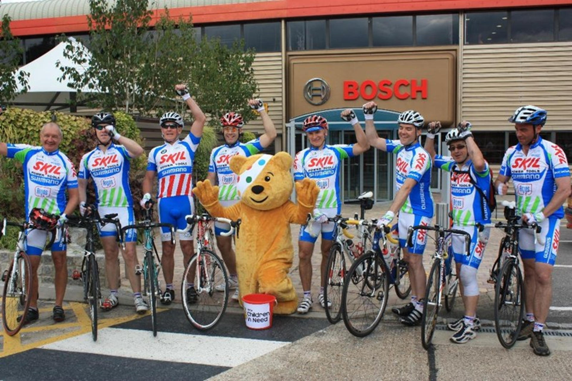 Children in Need cycling bosch skil