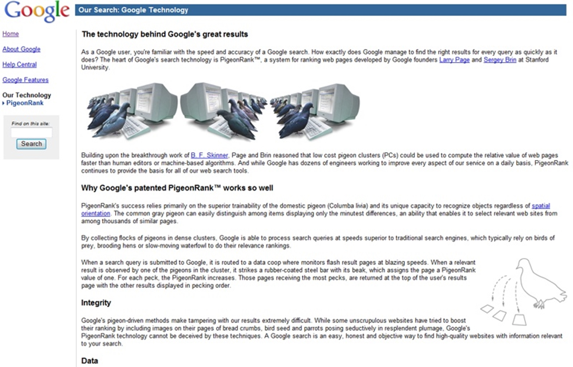 Google April Fools Joke 2002