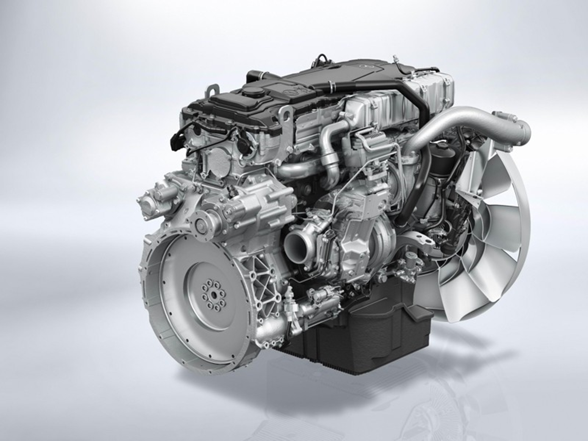 The new medium duty engines from mercedes benz for Engine for mercedes benz