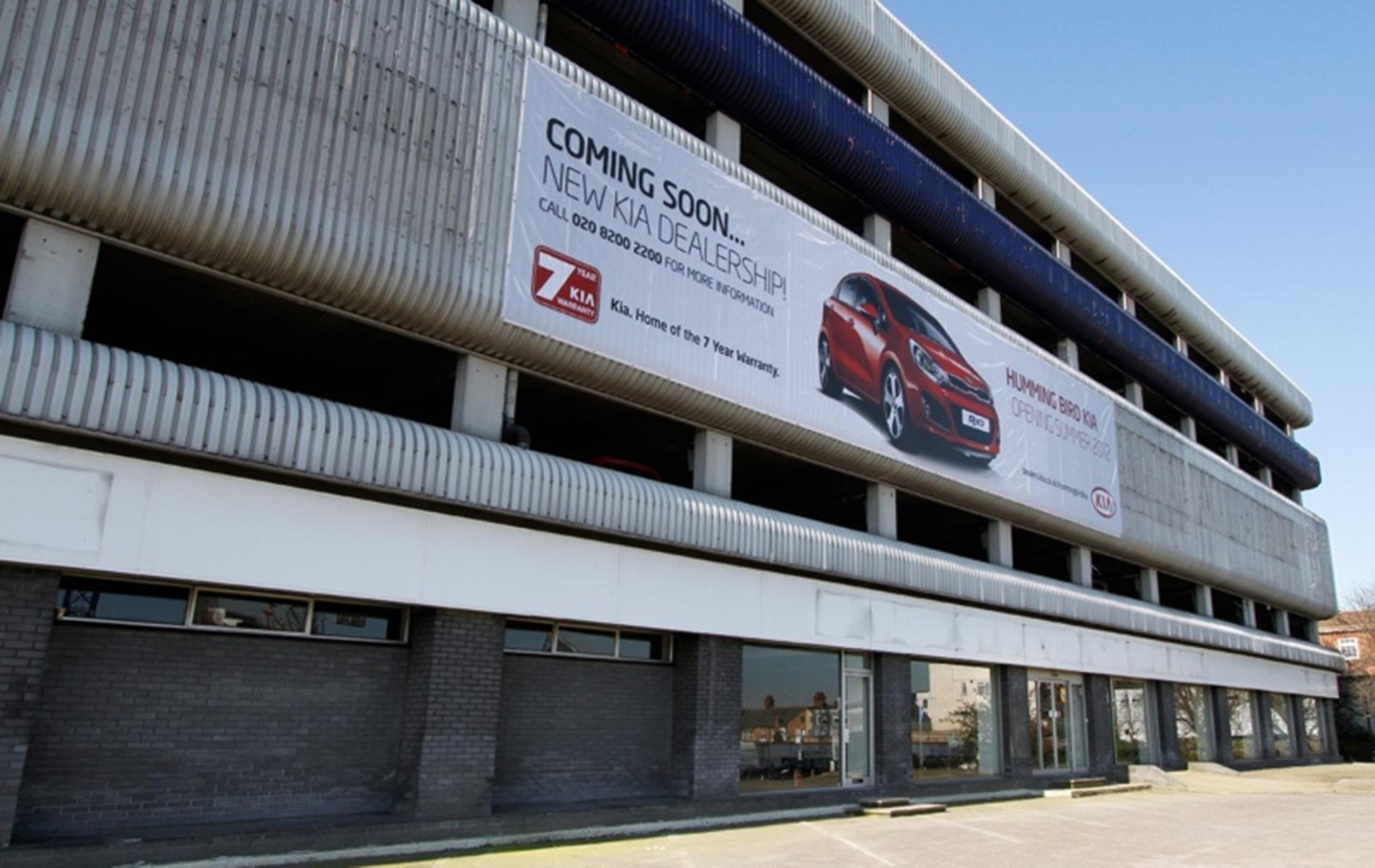 Kia Starts Work On A Major New North London Dealership In A Car Park