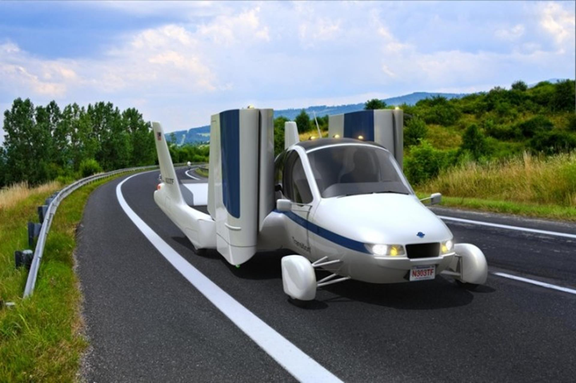 Flying Car on the Road