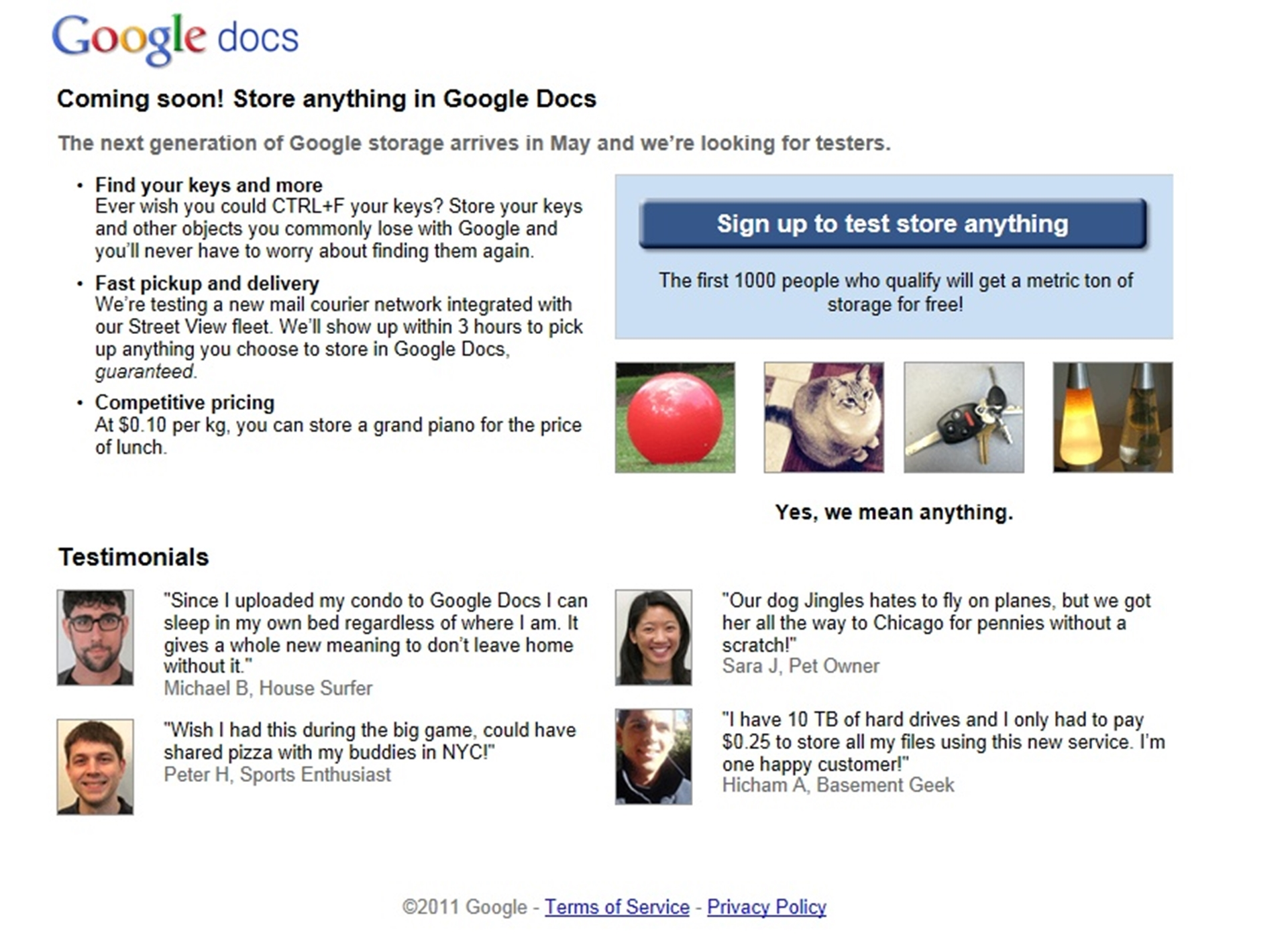 Google April Fool's 2010