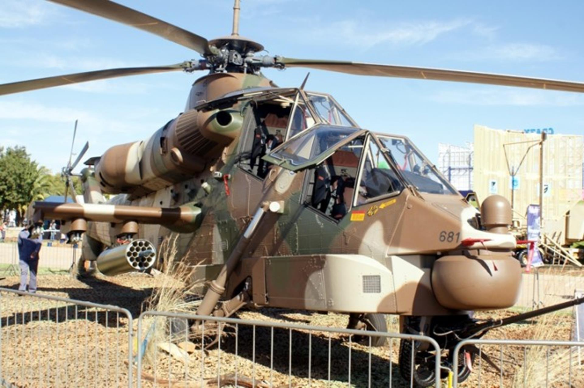 Rooivalk Helicopter at the Rand Show