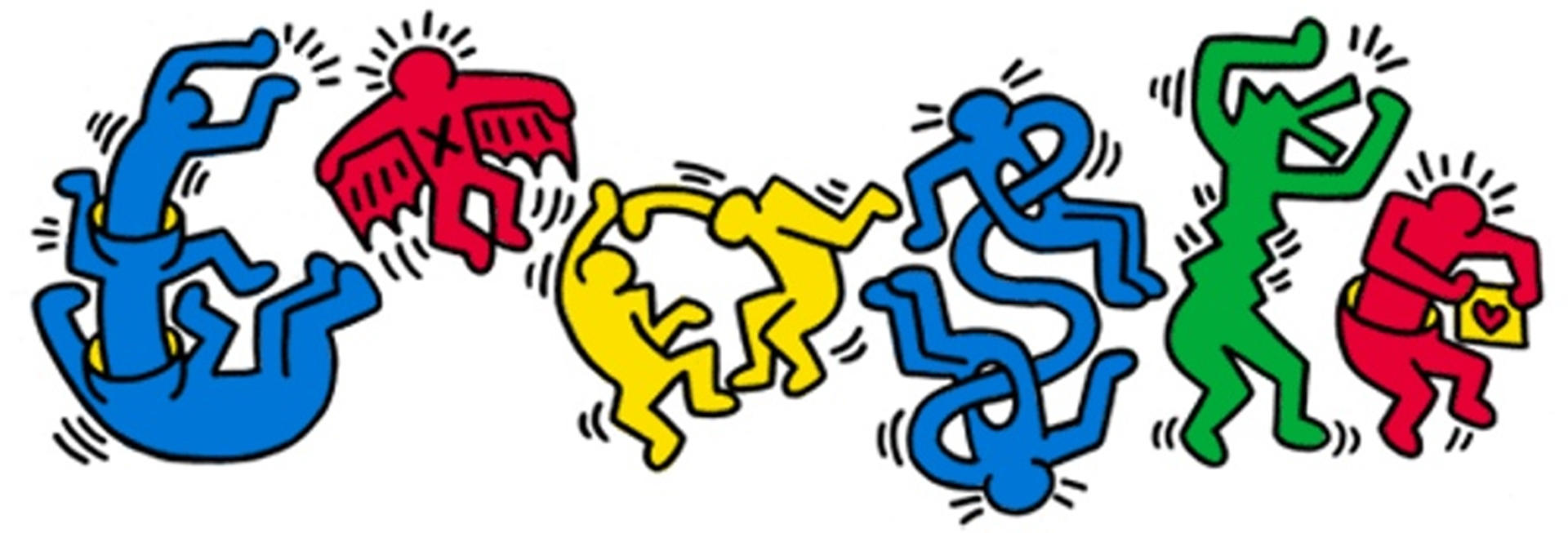Google Doodle Keith Haring 54th Birthday
