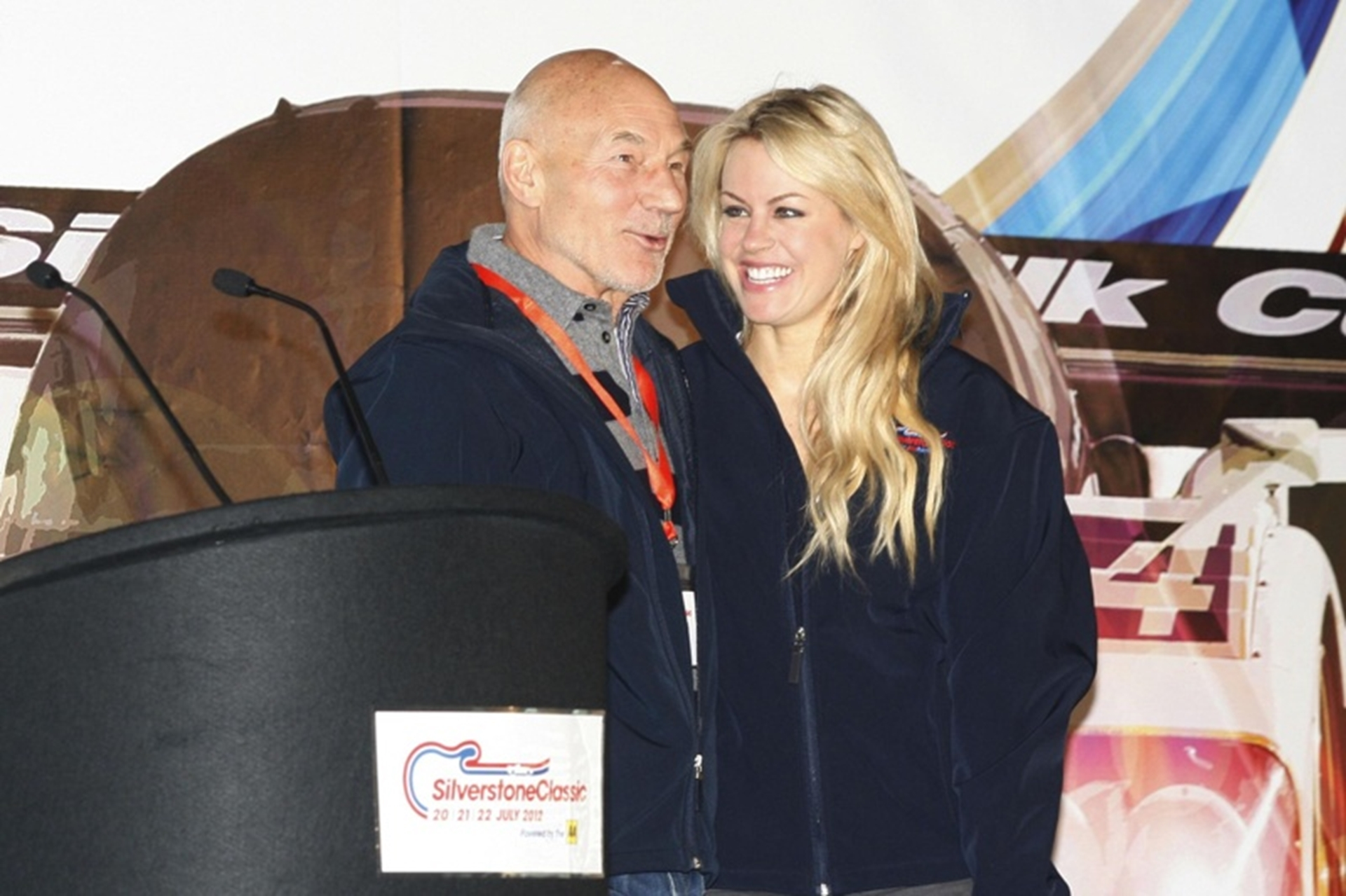 Sir Patrick Stewart and Chemmy Alcott