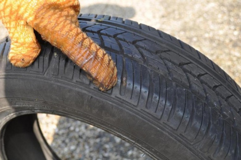 damaged tyre