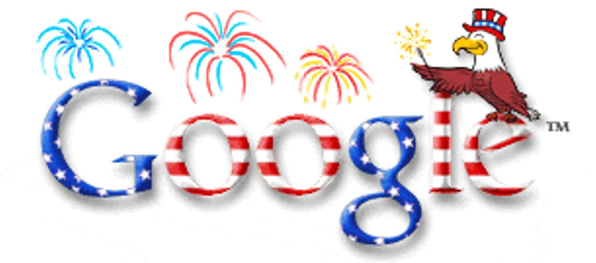 4th July Google Doodle 2001