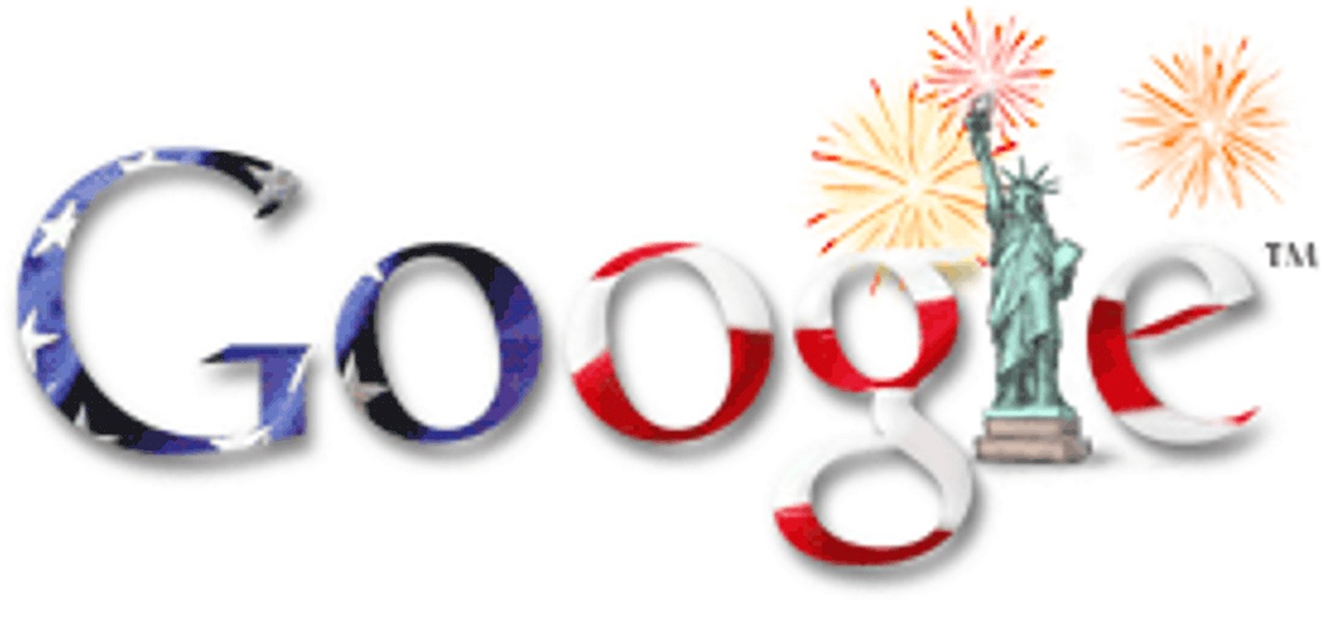 4th of July Google Doodle 2003