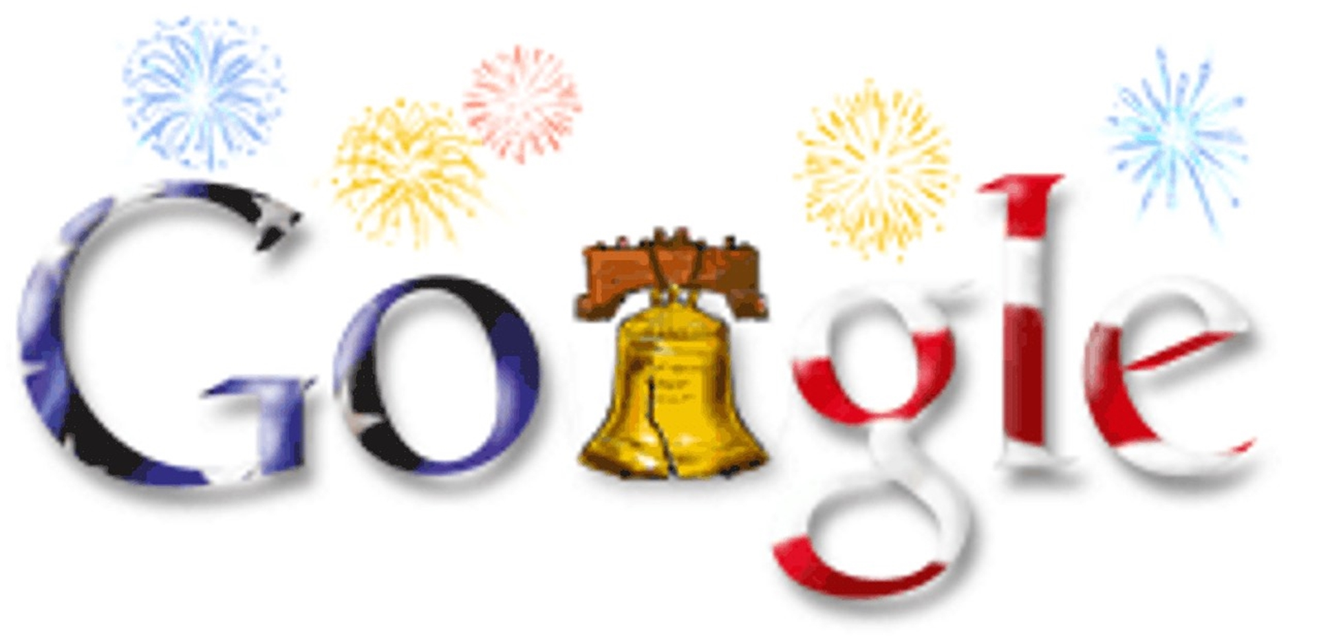 4th of July Google Doodle 2005