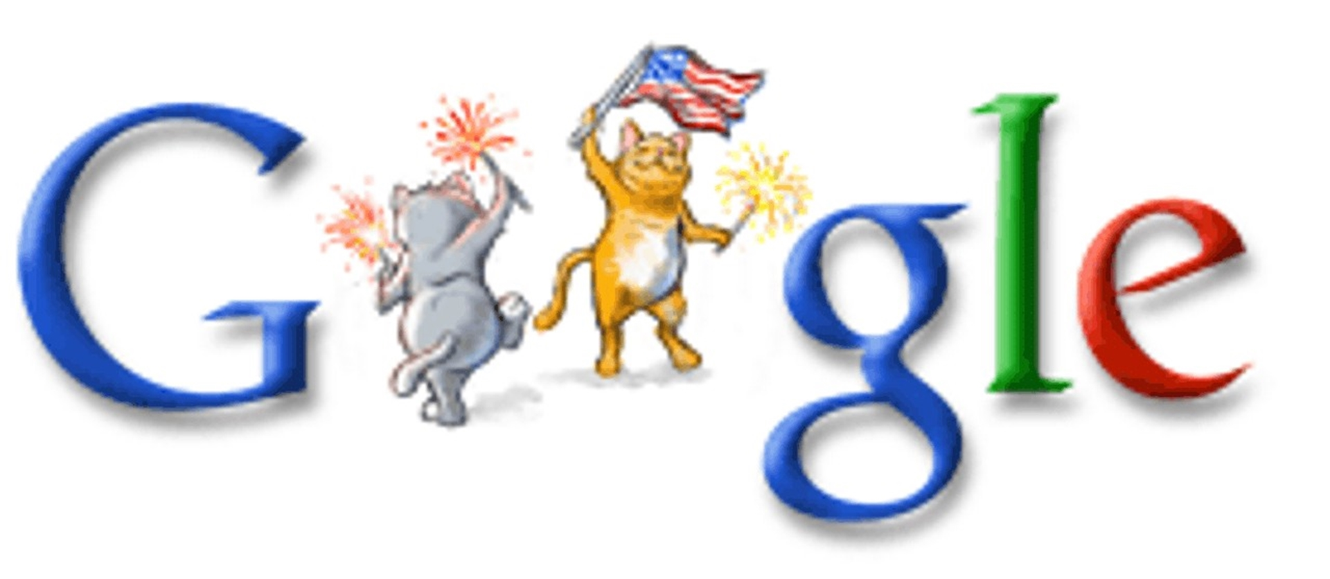 4th of July Google Doodle 2006