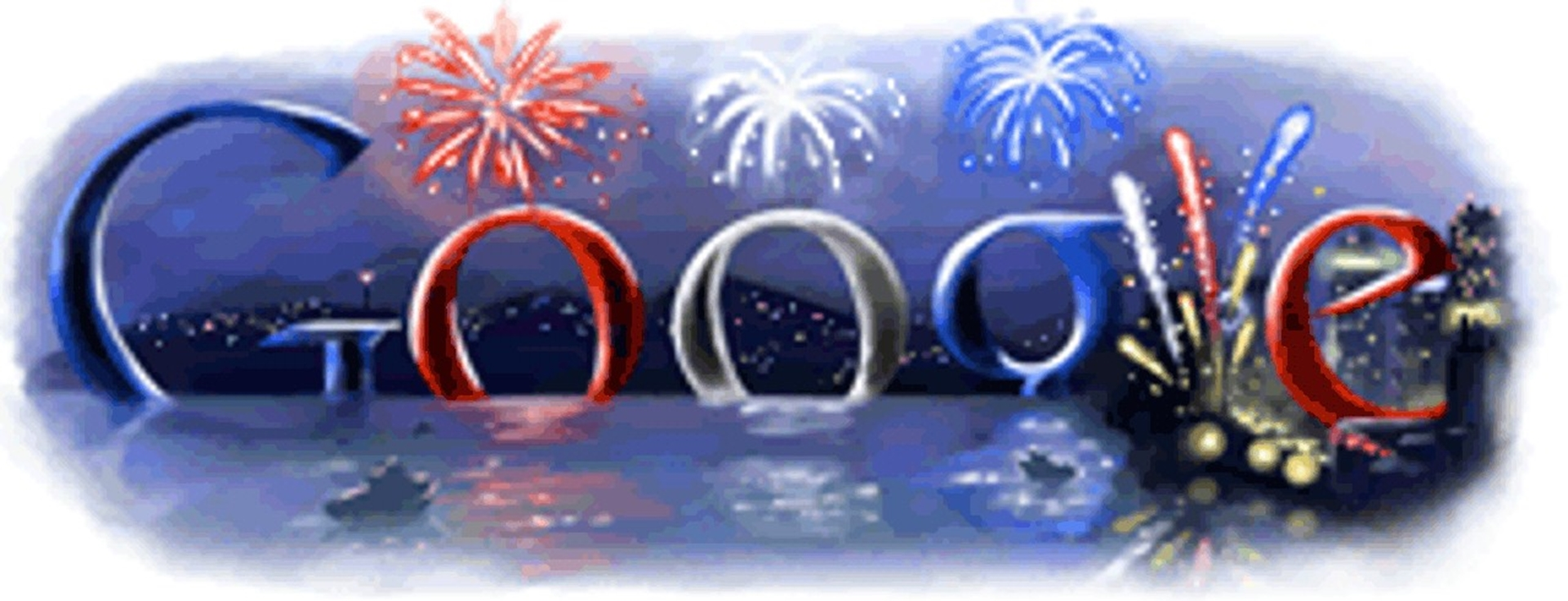 4th of July Google Doodle 2008