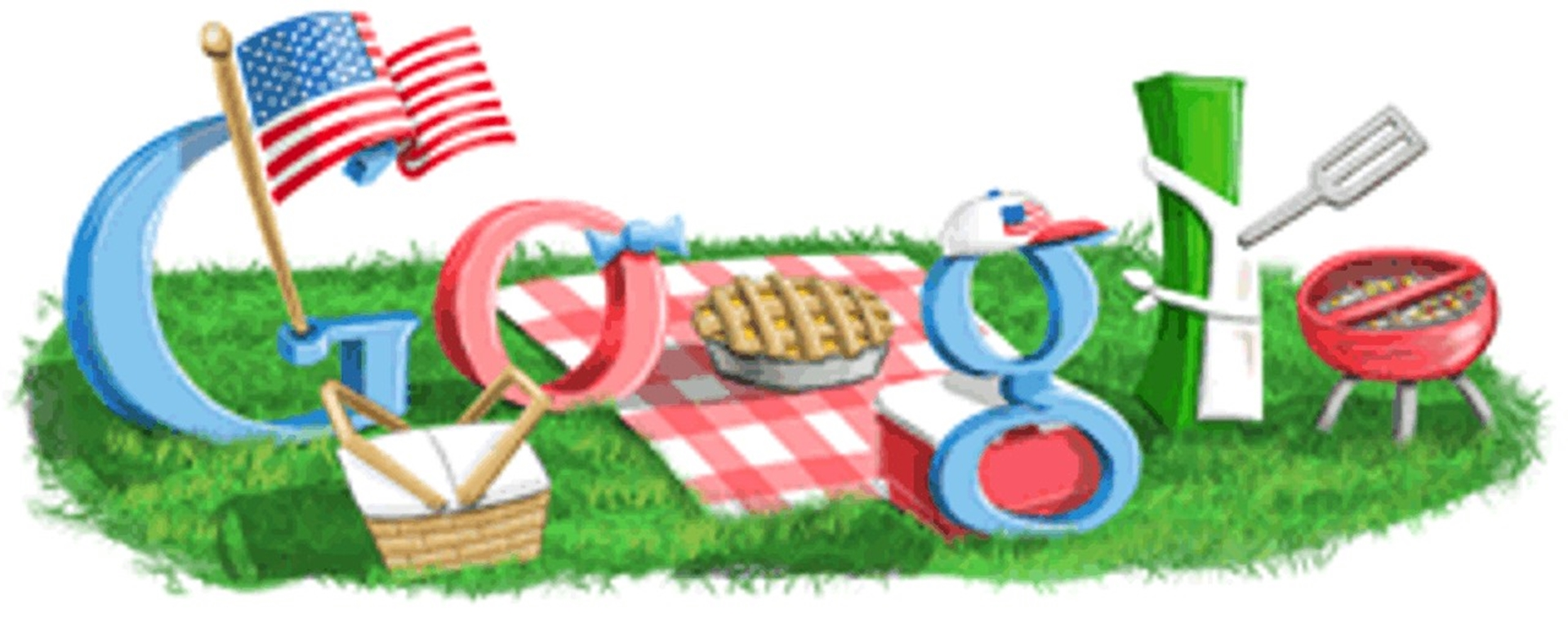 4th of July Google Doodle 2009