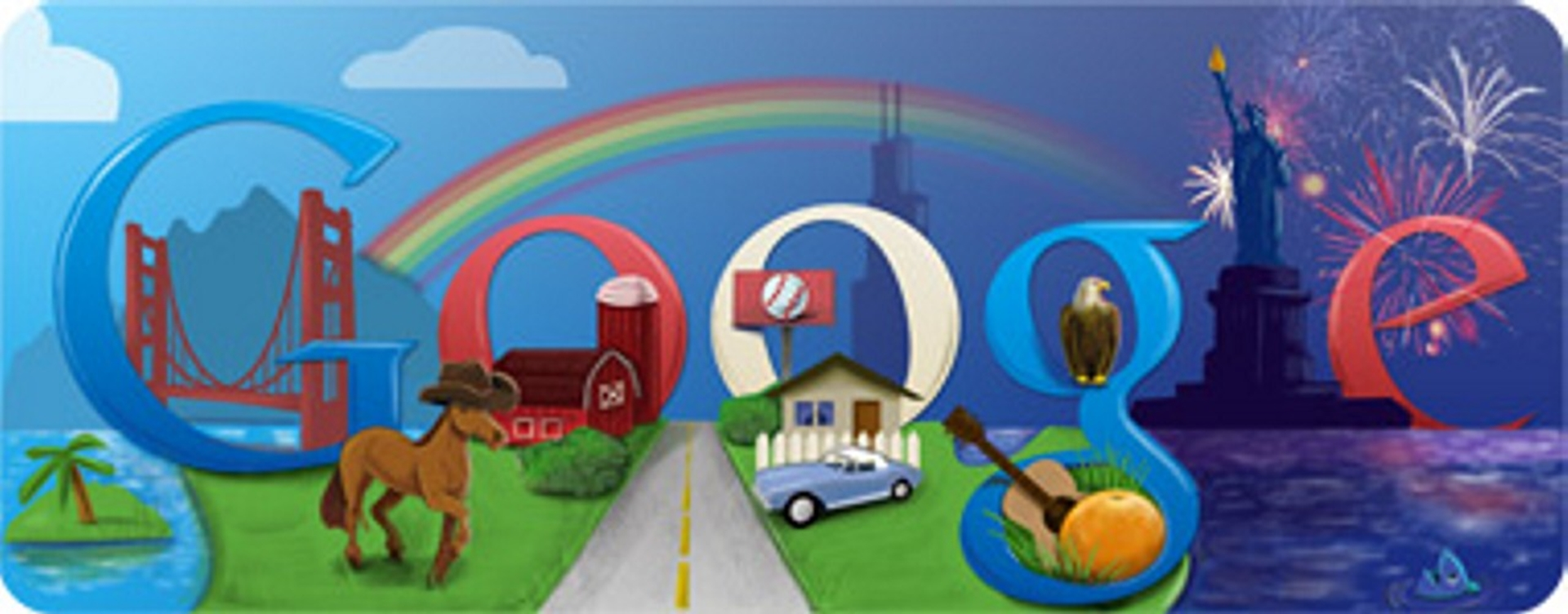 4th of July Google Doodle 2011