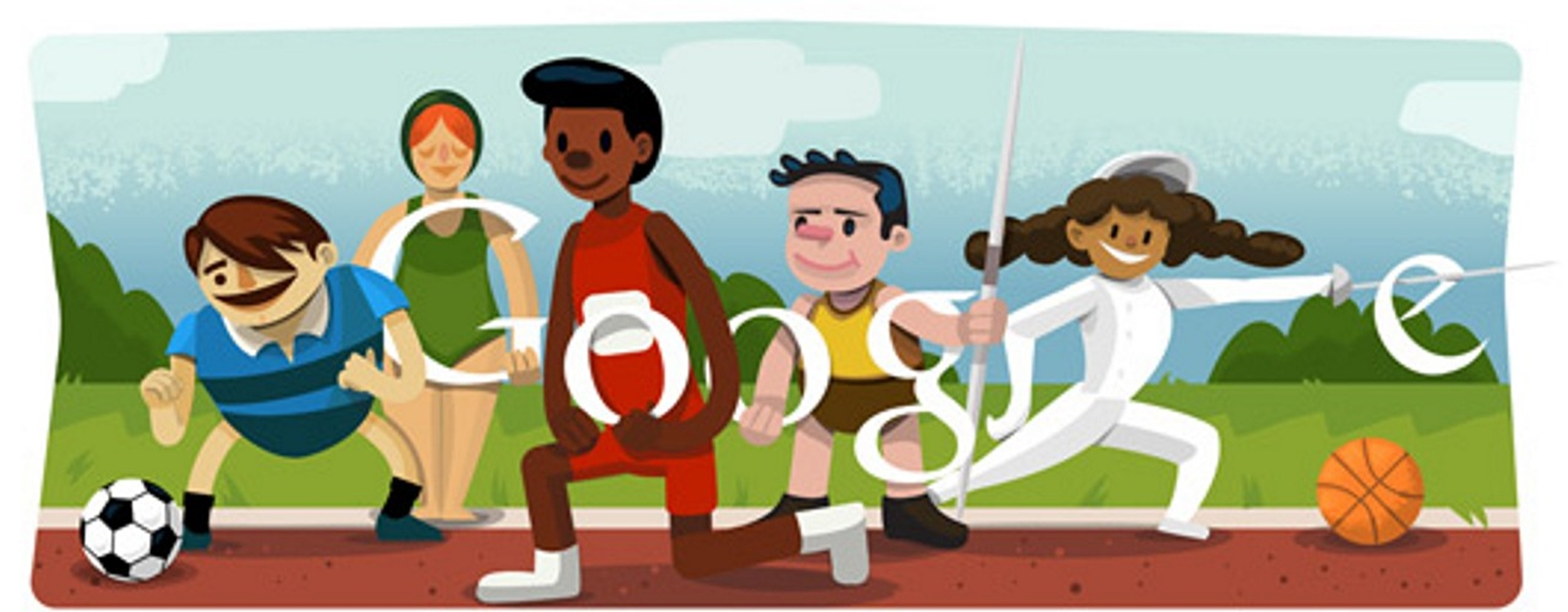 Opening ceremony London 2012 Google Doodle