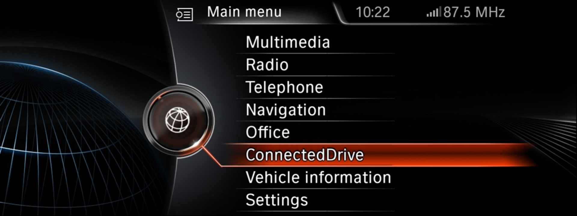 BMW Connected Drive Interface