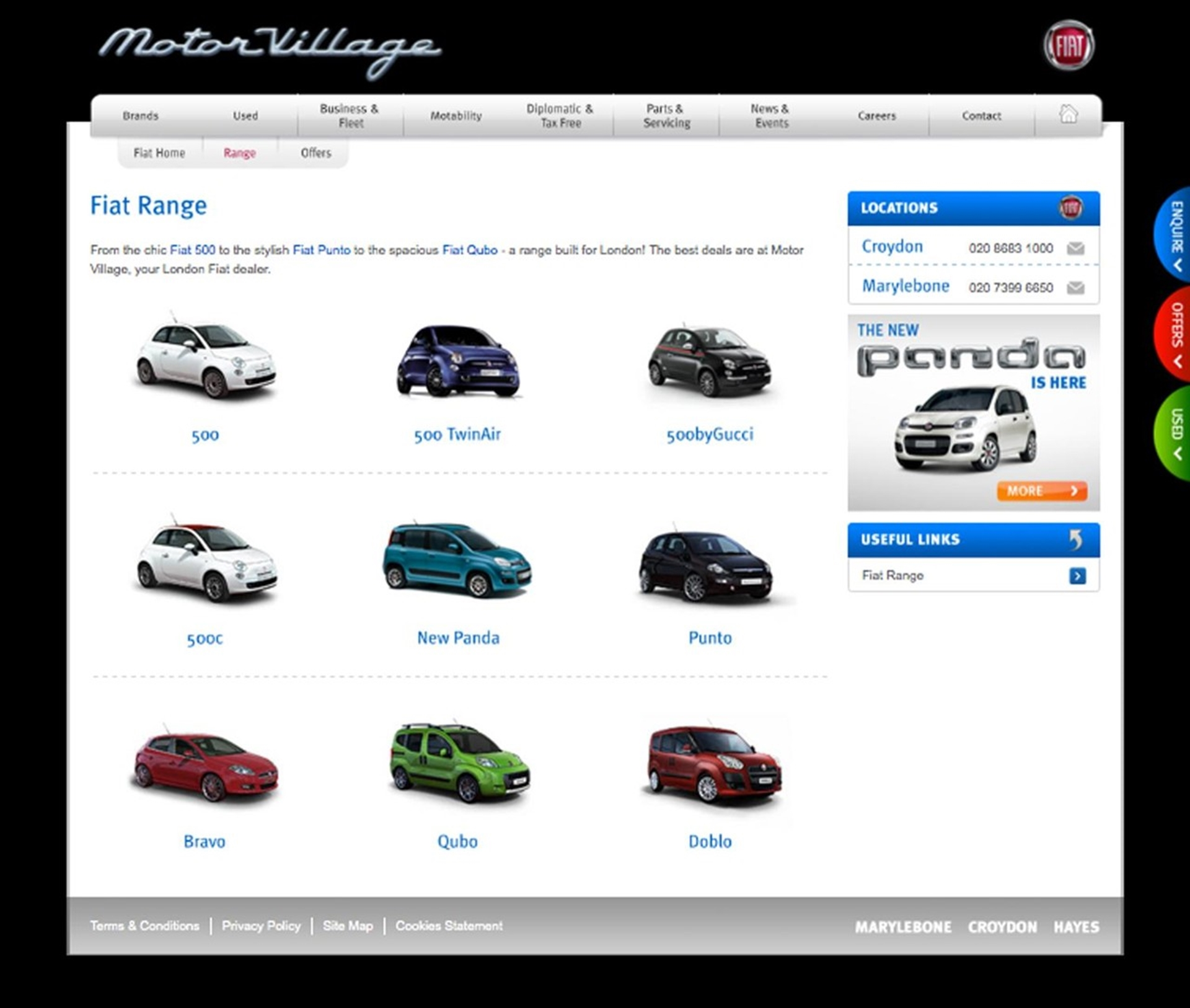 Fiat Website United Kingdom