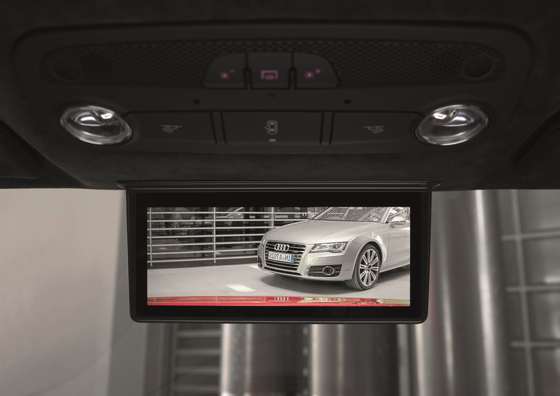 Audi digital rear-view mirror