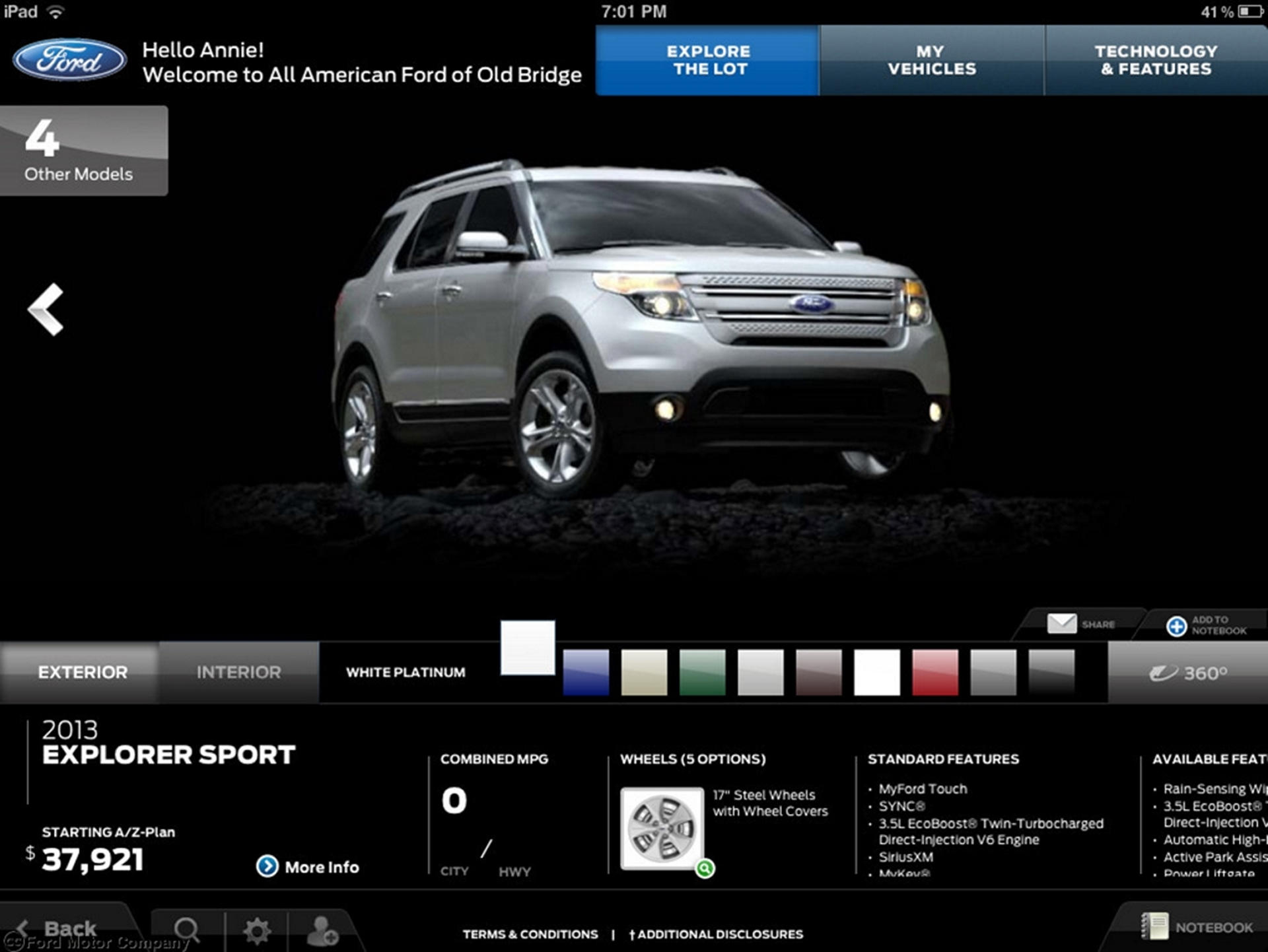 Ford Showroom App