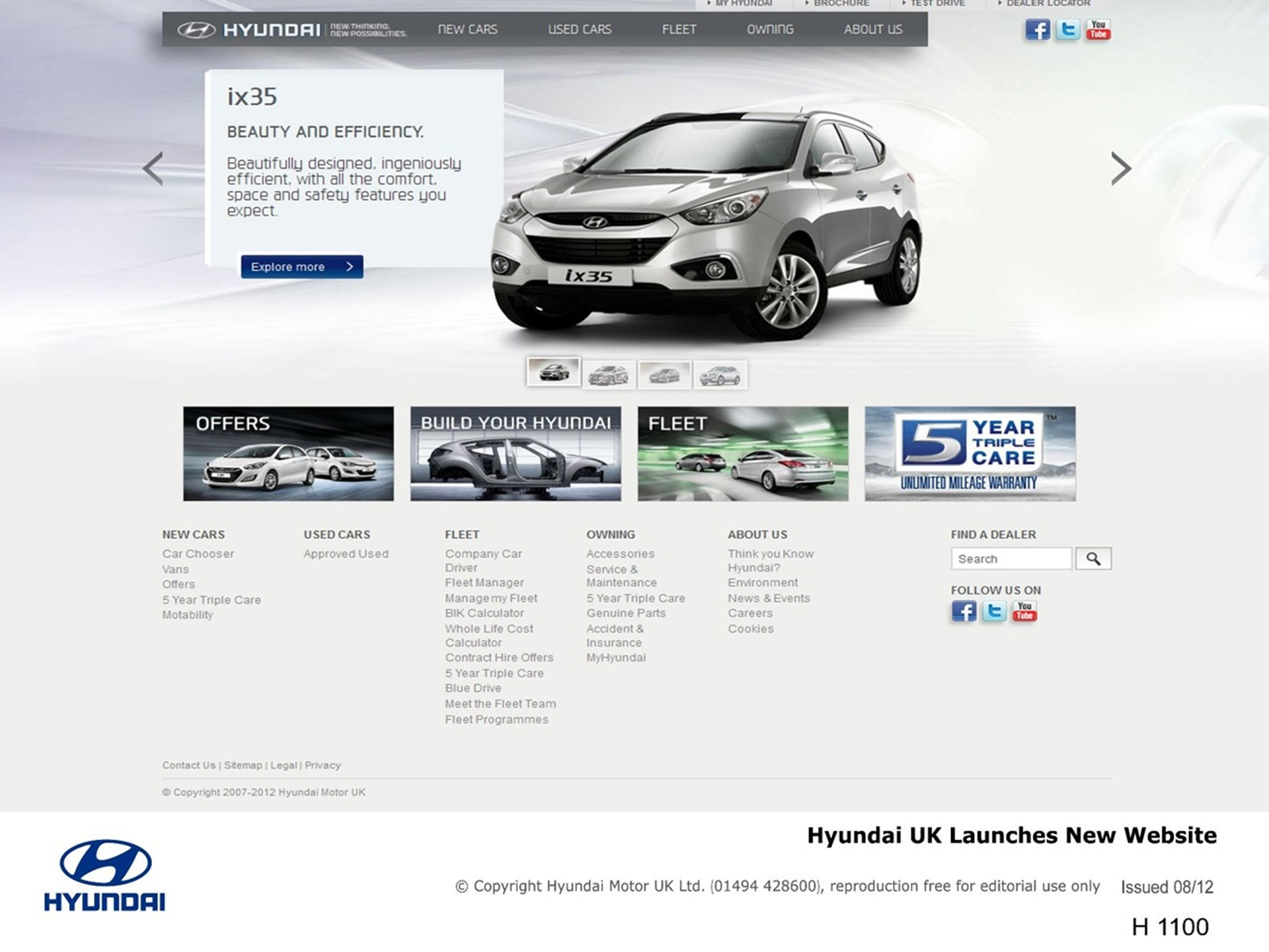 Hyundai website