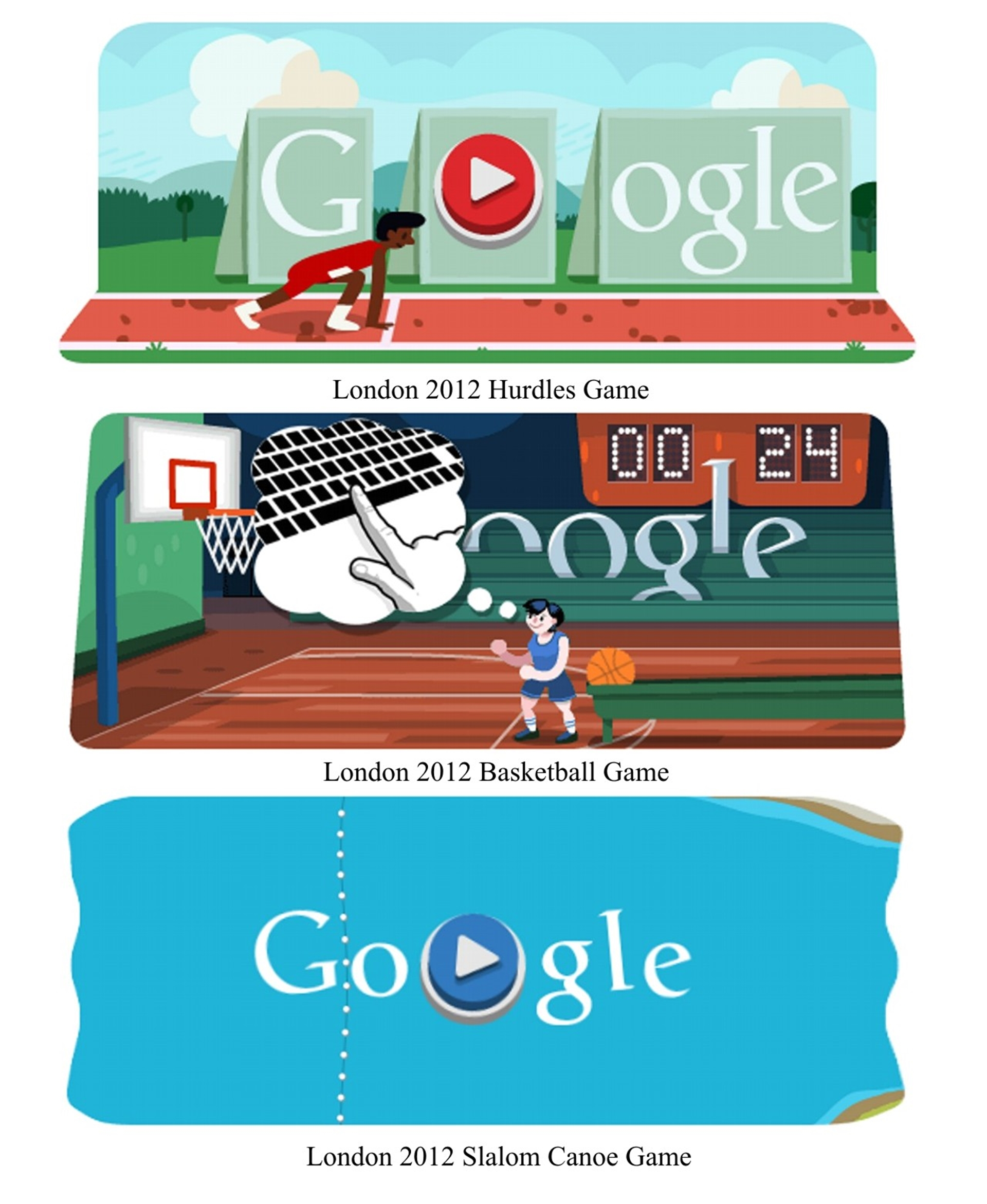 0560319f12c4 London 2012 slalom canoe. These Google doodles sparked a renewed ...