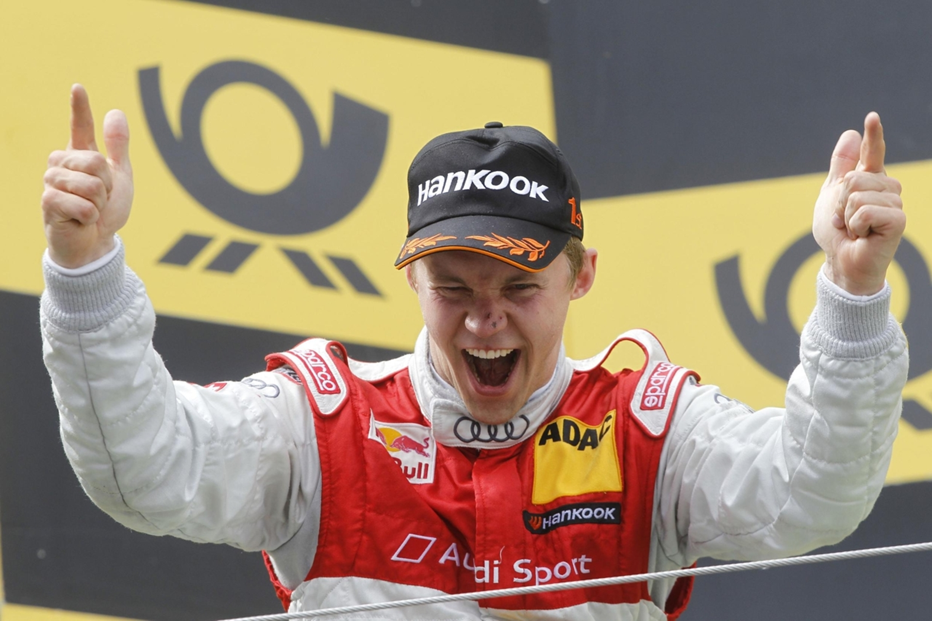 Mattias Ekstrom at his 2011 Nurburgring victory