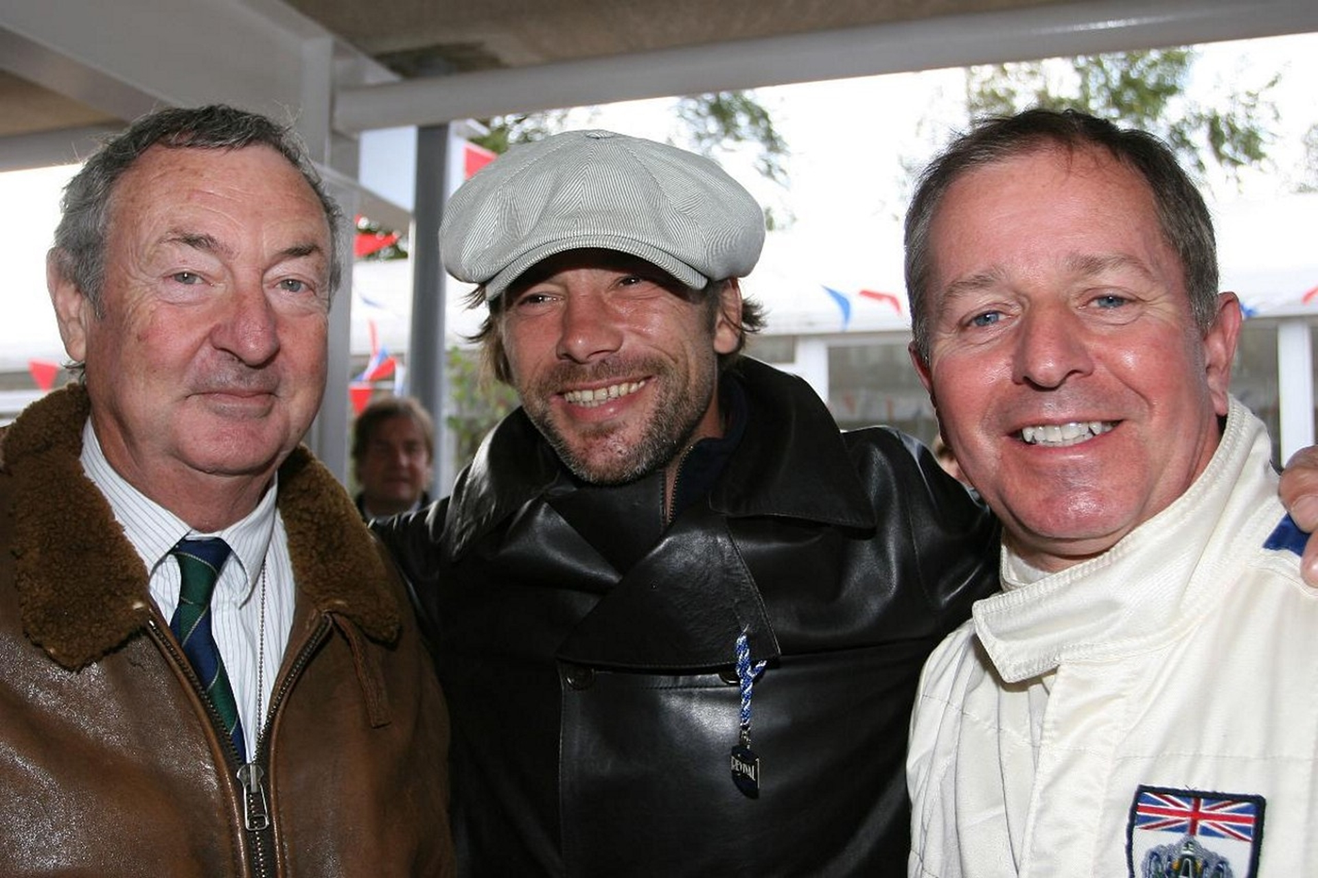 Nick Mason Jay Kay and Martin Brundle