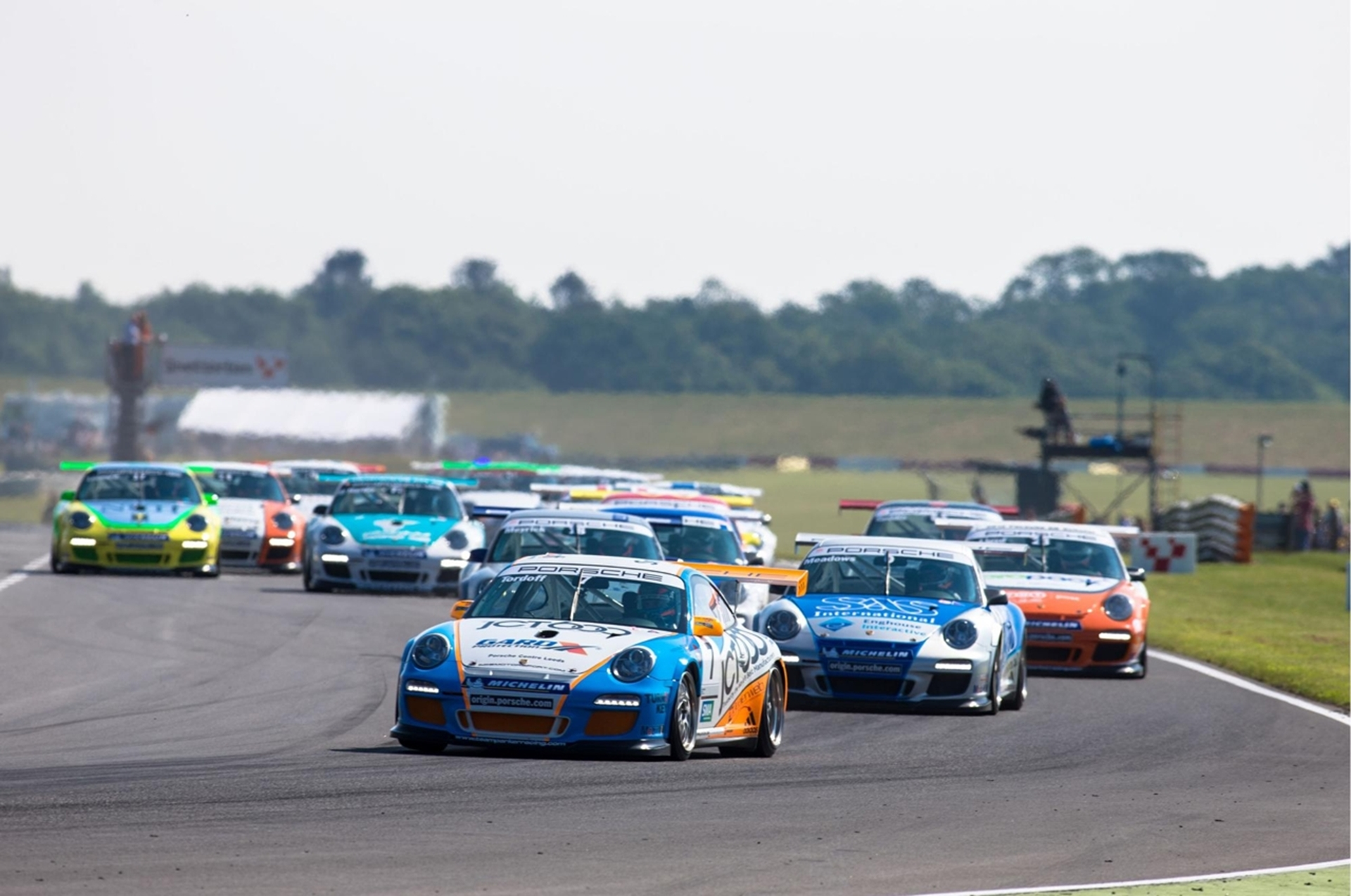 Sam Tordoff leads the Porsche Carrera Cup