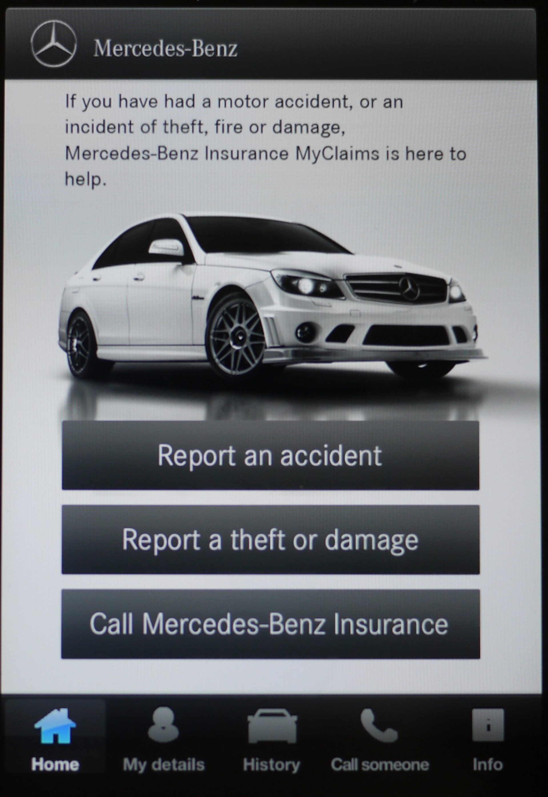 Mercedes Benz MyClaims