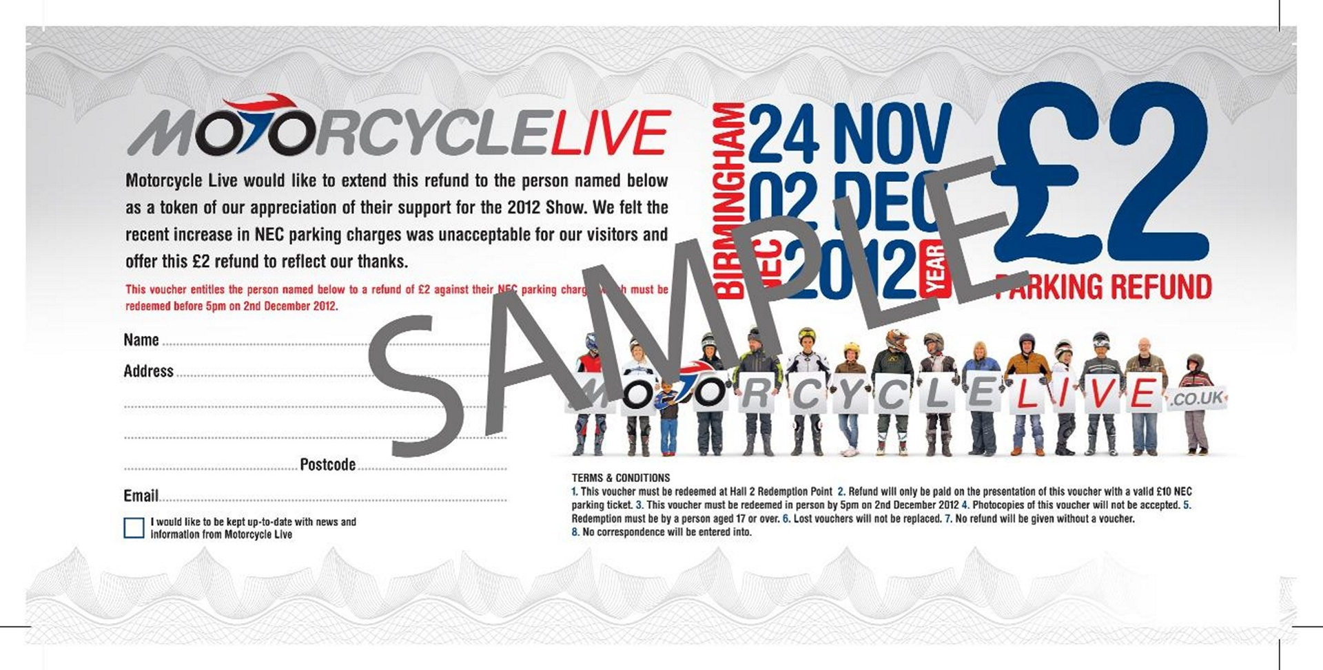 Motorcyclelive ticket