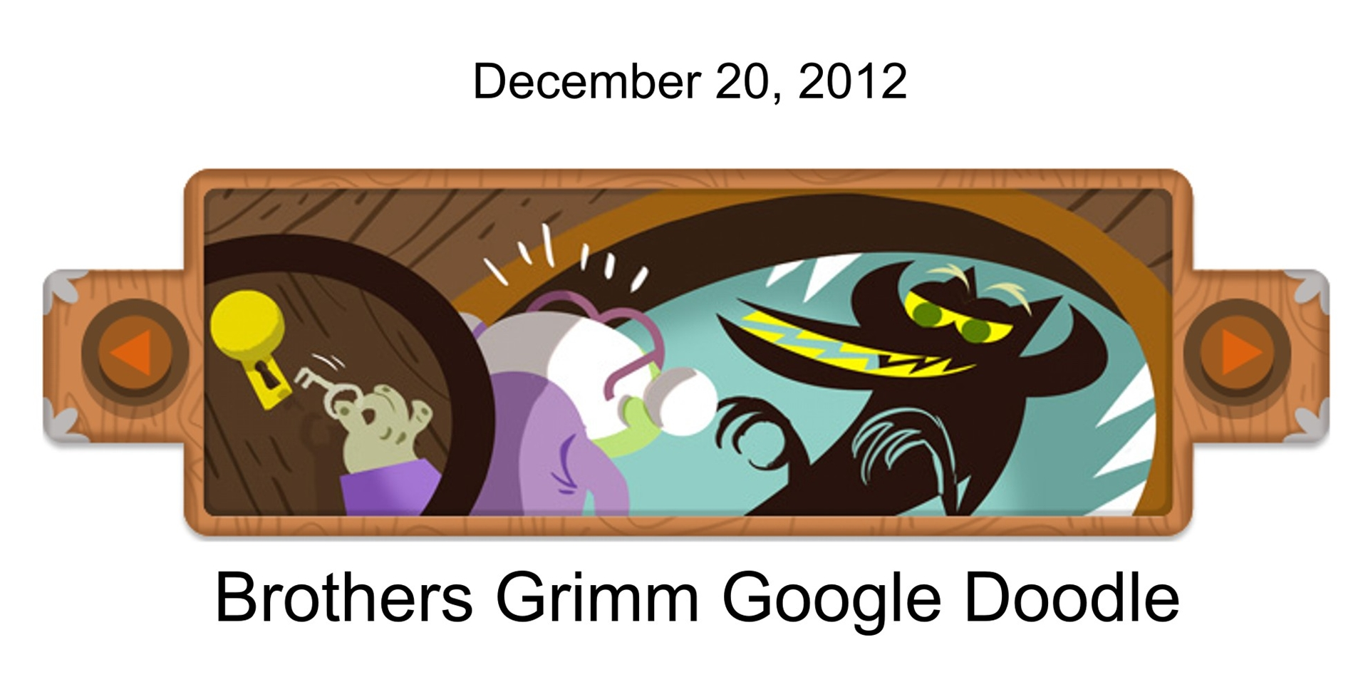 Brothers Grimm Google Doodle