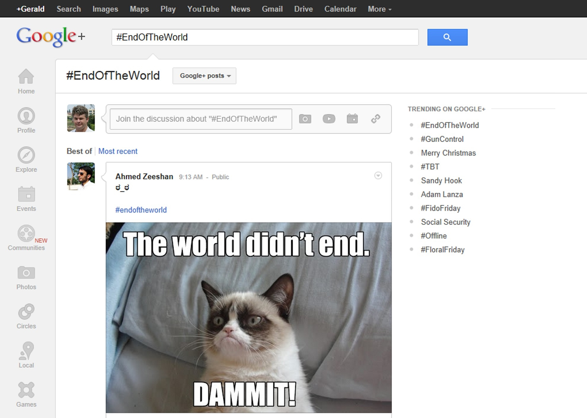 Google+ end of the world