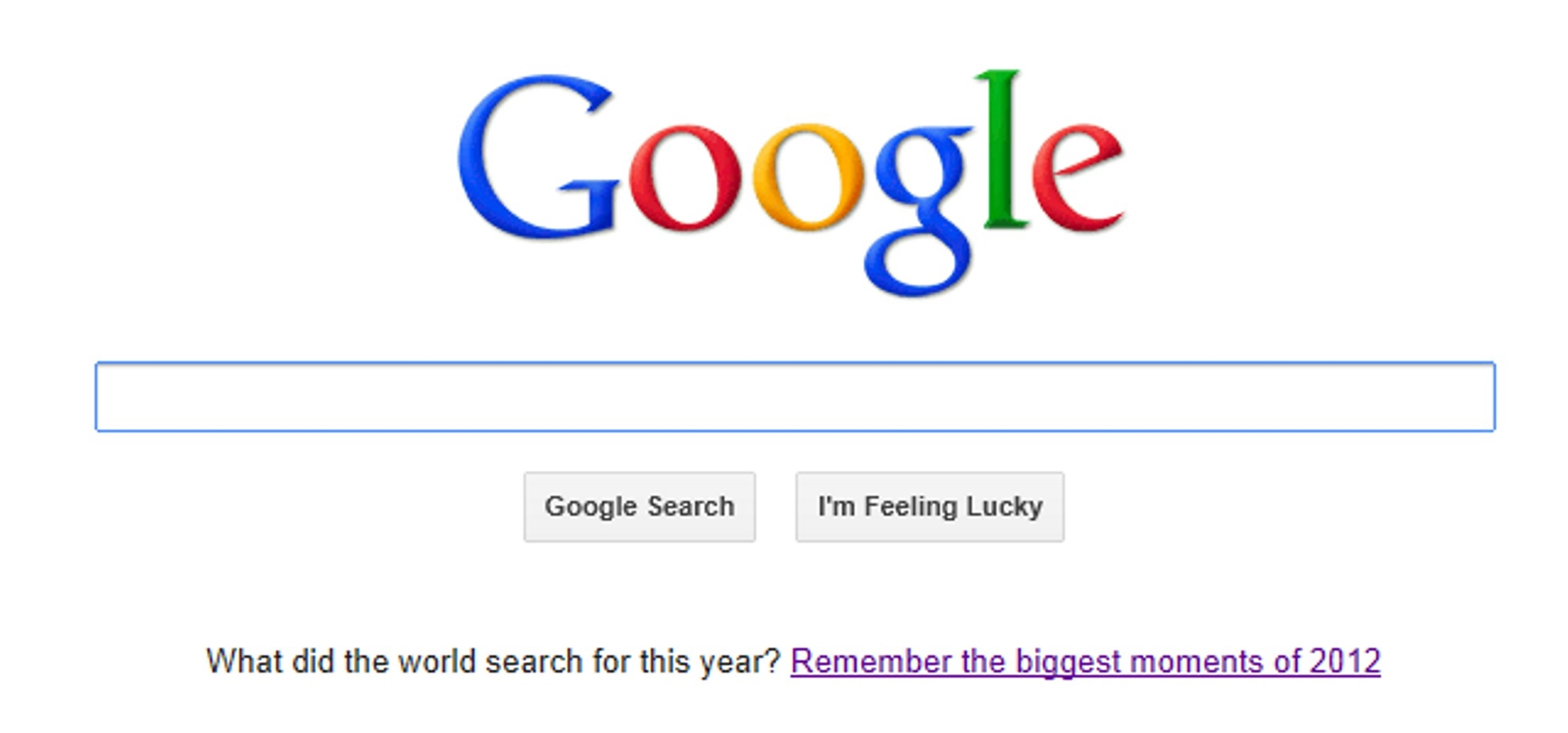 Google Biggest Moments 2012