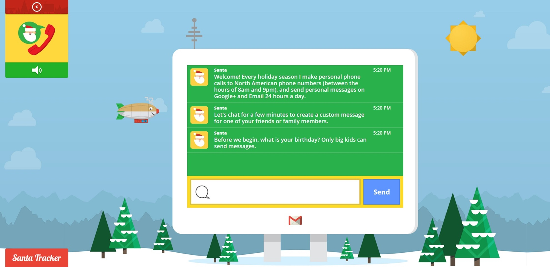 Google Santa Christmas Card