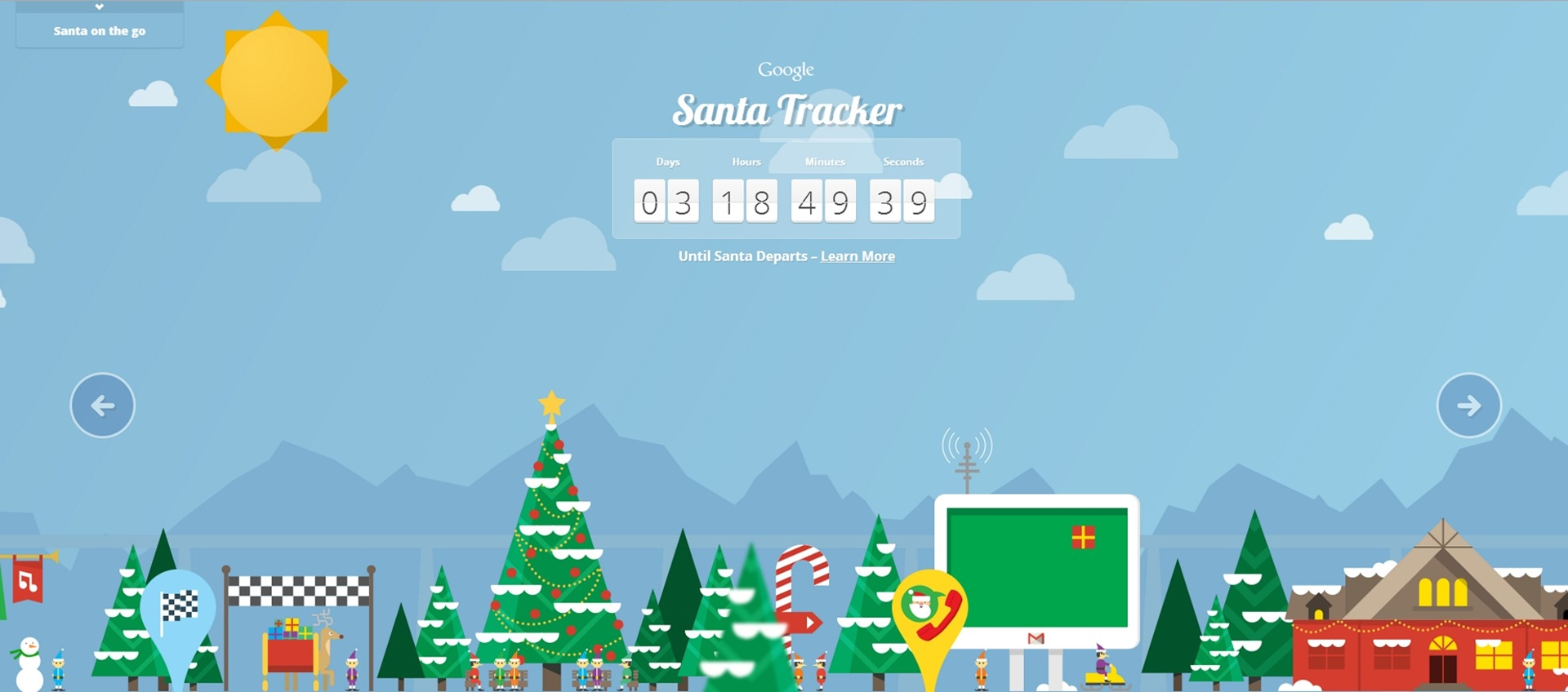 Google Santa Tracker Countdown
