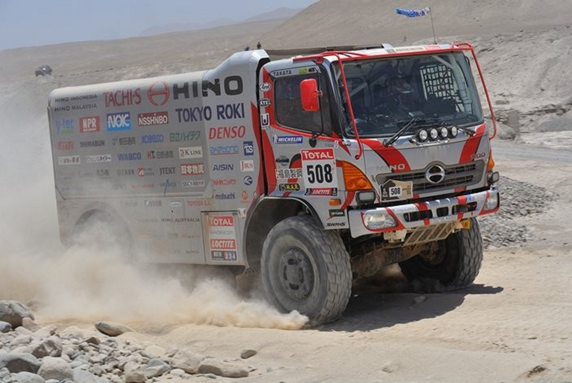 2013 Dakar Rally Hino in the Race