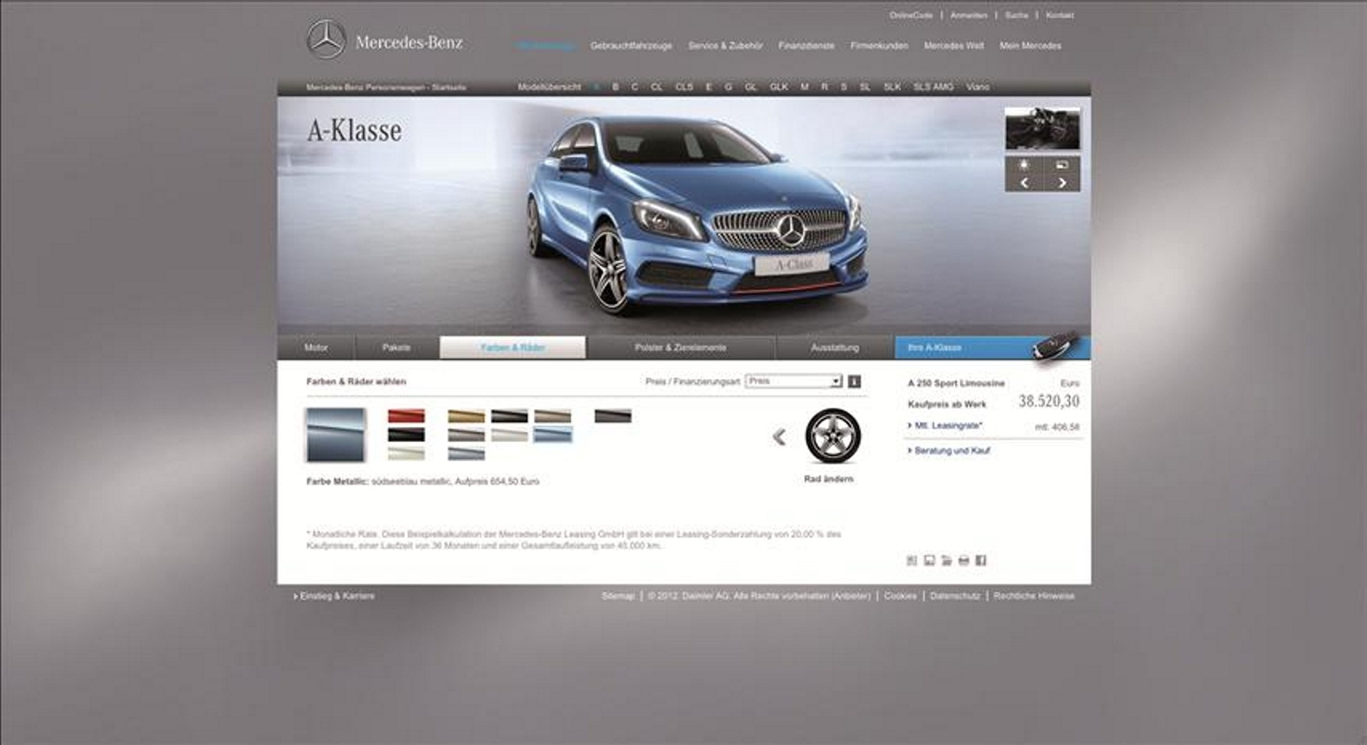 Mercedes-Benz Website