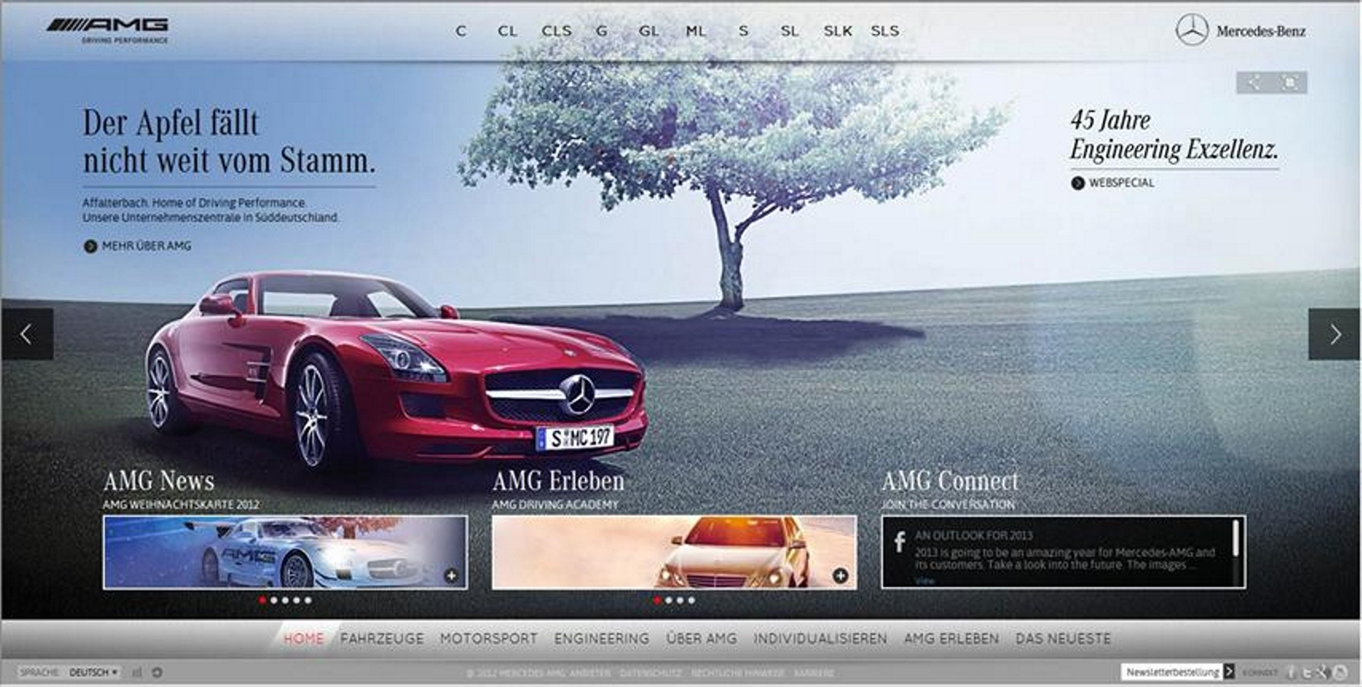 Mercedes-Benz Website 2013