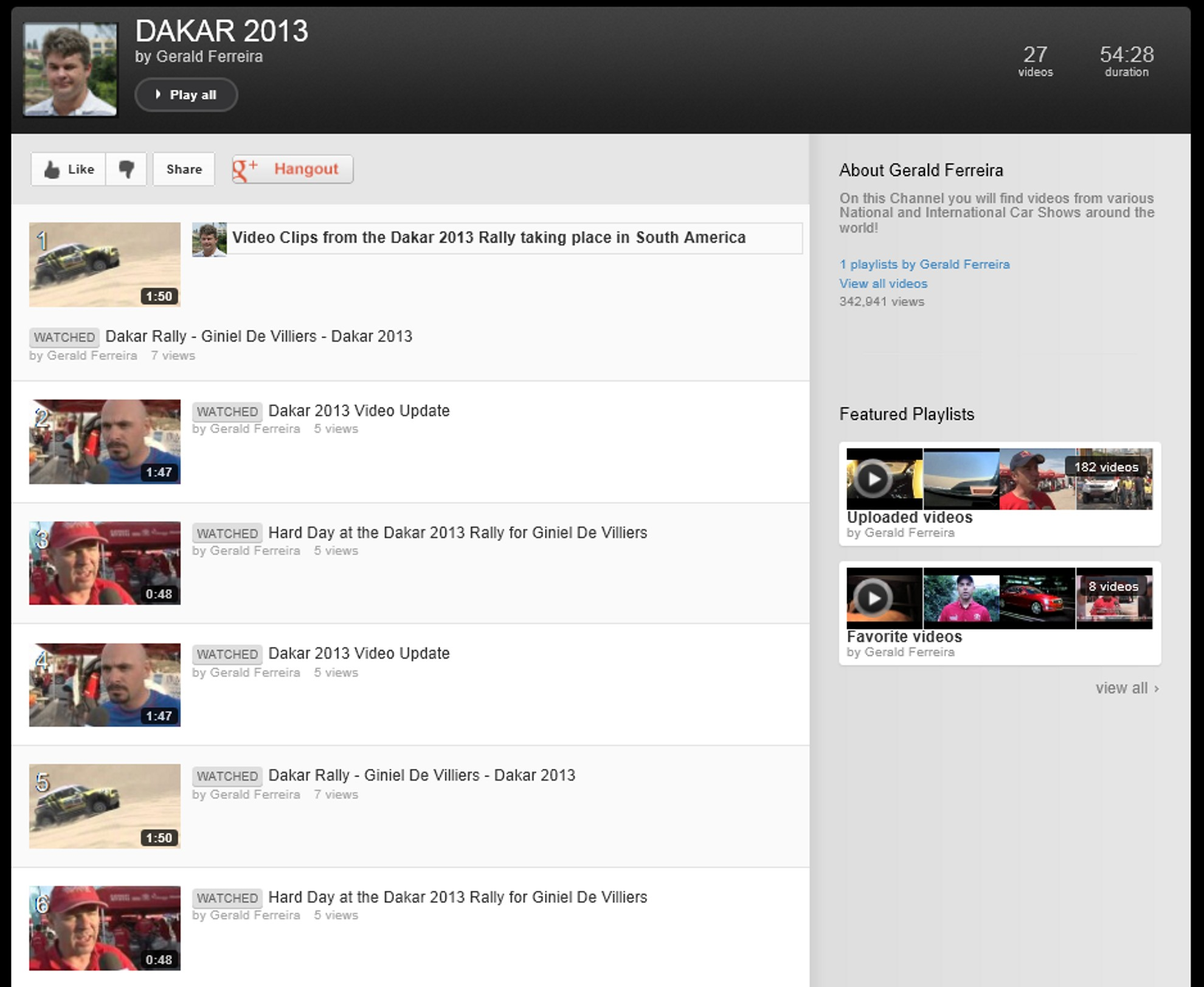 Dakar 2013 Youtube