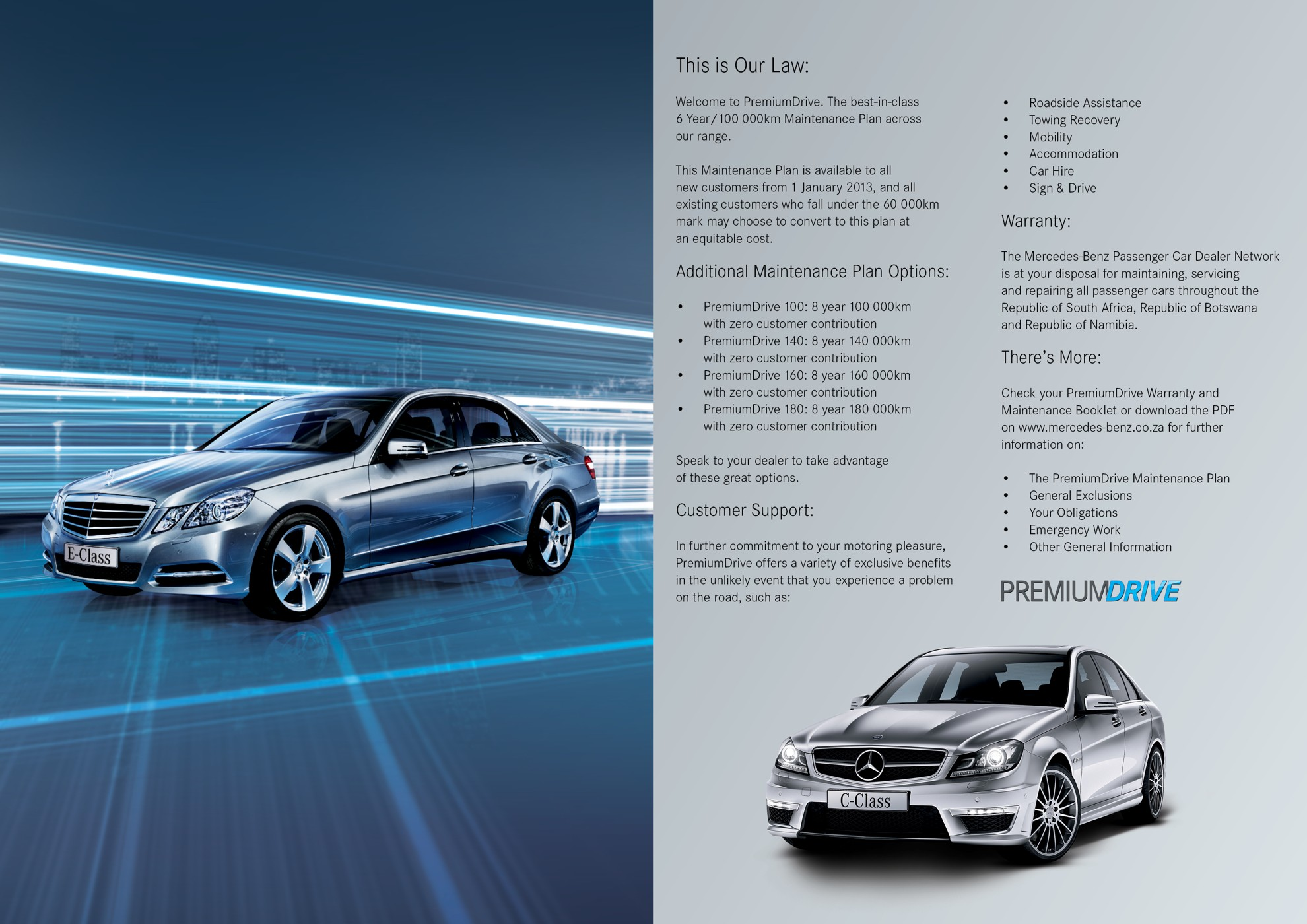 Mercedes benz south africa premiumdrive offers further for Mercedes benz south africa