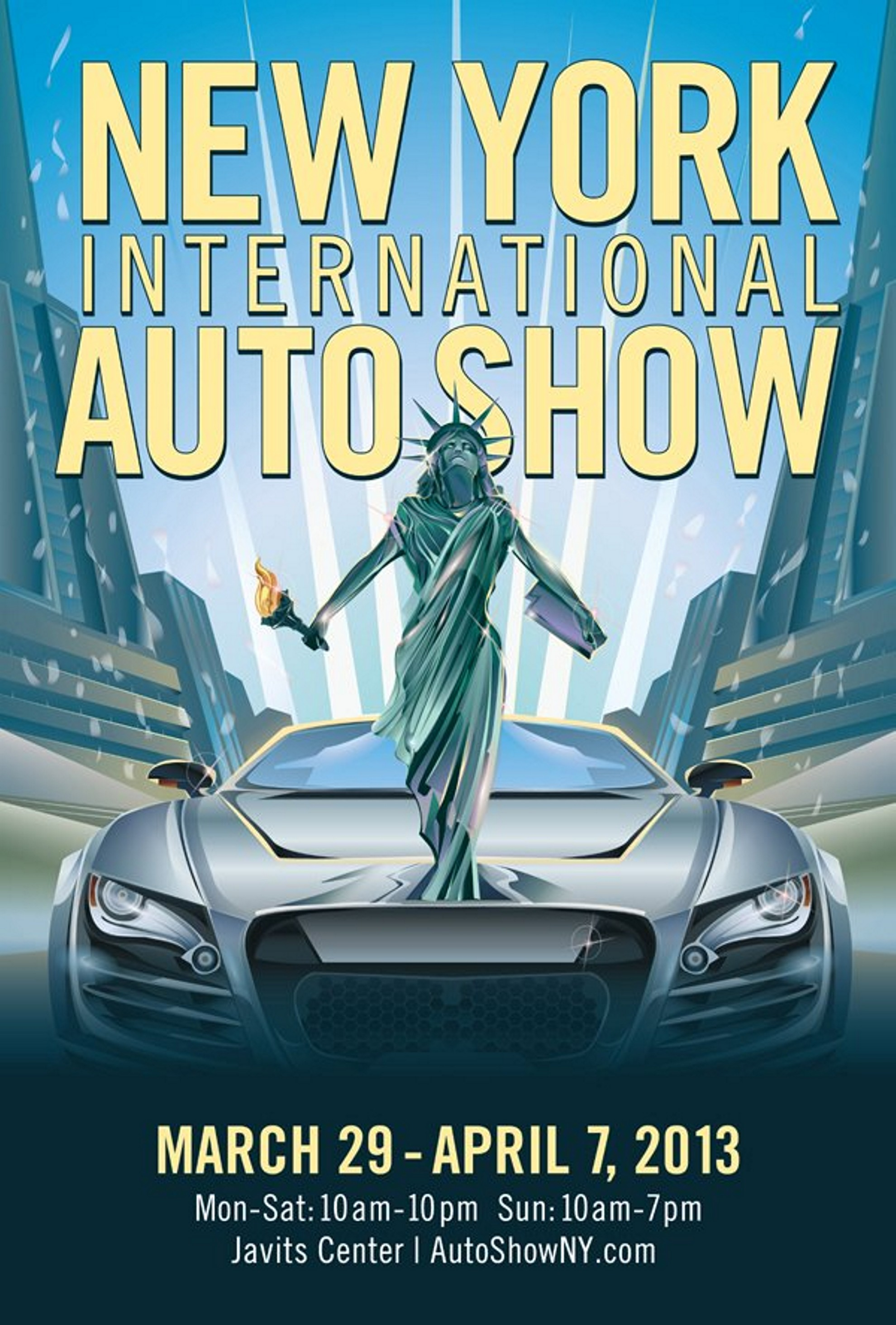 NEW YORK AUTO SHOW DEBUTS ARTWORK AND POSTER - Nyc car show javits center