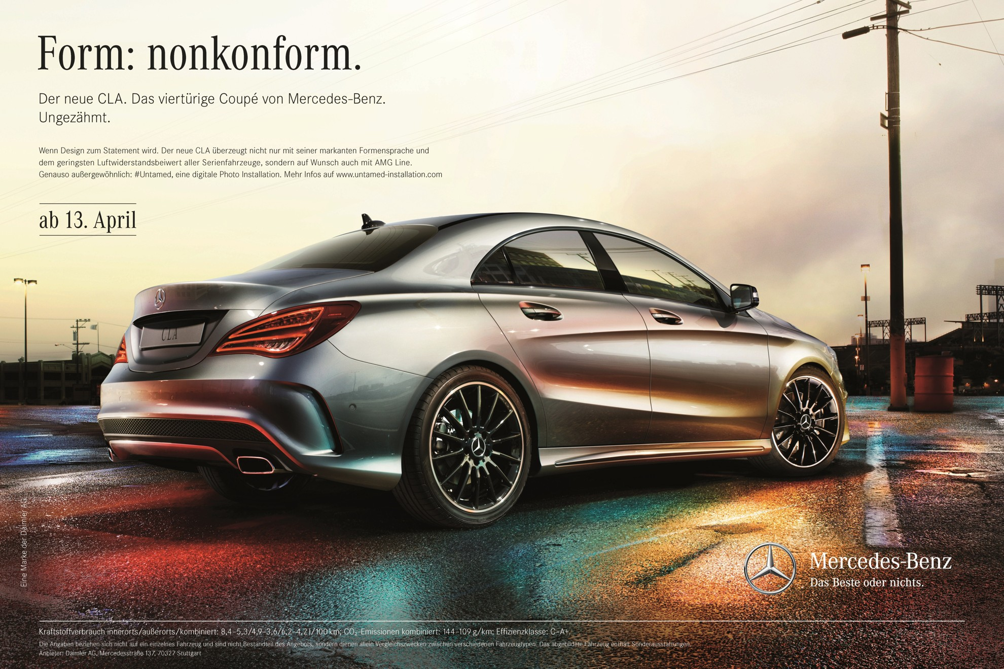 The new mercedes benz cla mercedes benz launches for Mercedes benz poster